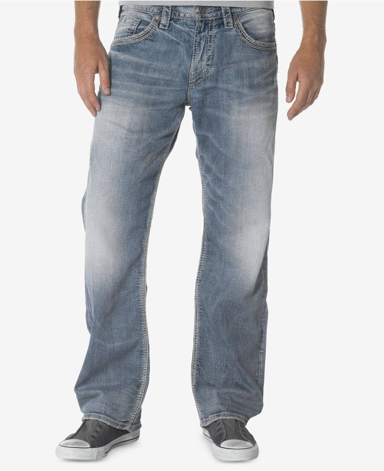 6fe3b6c8 Silver Jeans Co. Jeans, Gordie Straight-leg in Gray for Men - Lyst