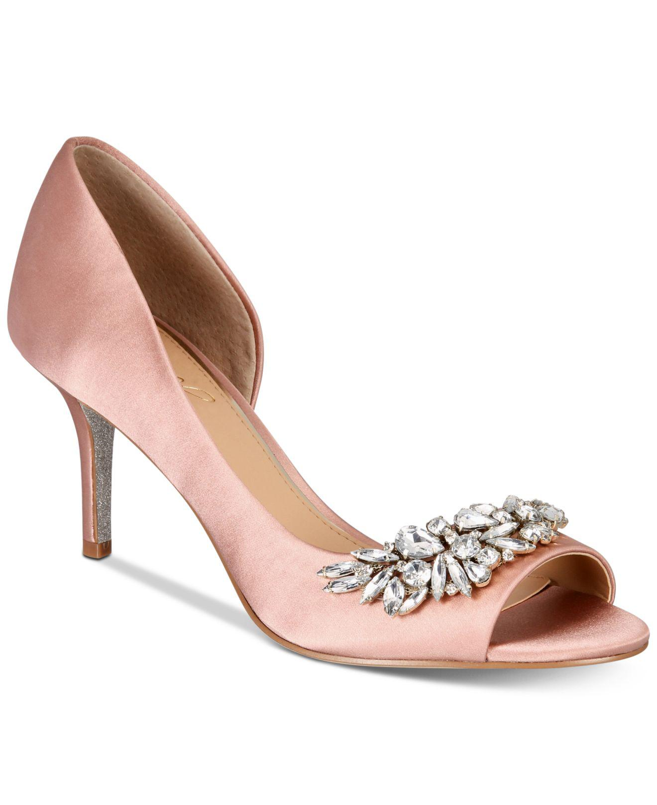 824499e40d09 Lyst - Badgley Mischka Melvina Evening Sandals in Pink