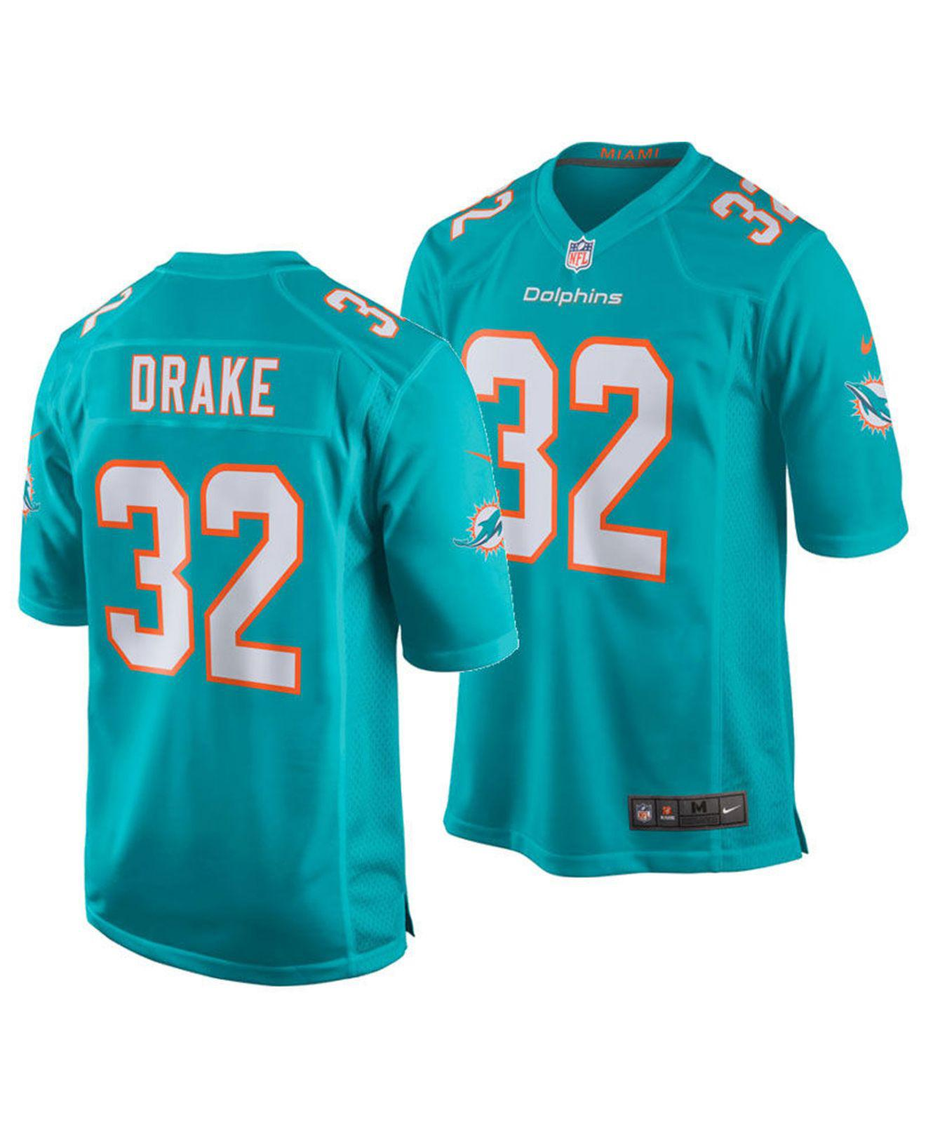Lyst - Nike Kenyan Drake Miami Dolphins Game Jersey in Blue for Men ecfa38729
