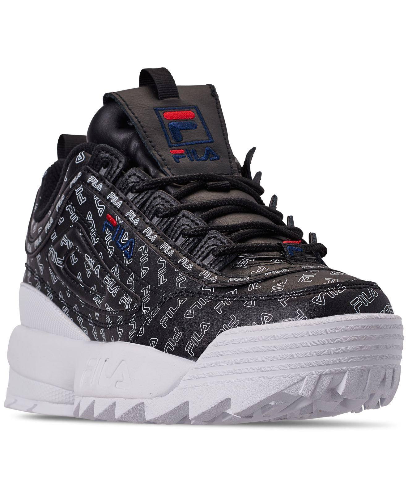 f40bea5e6fb37 Lyst - Fila Women s Disruptor Ii Multi Low-top Sneakers in Black ...