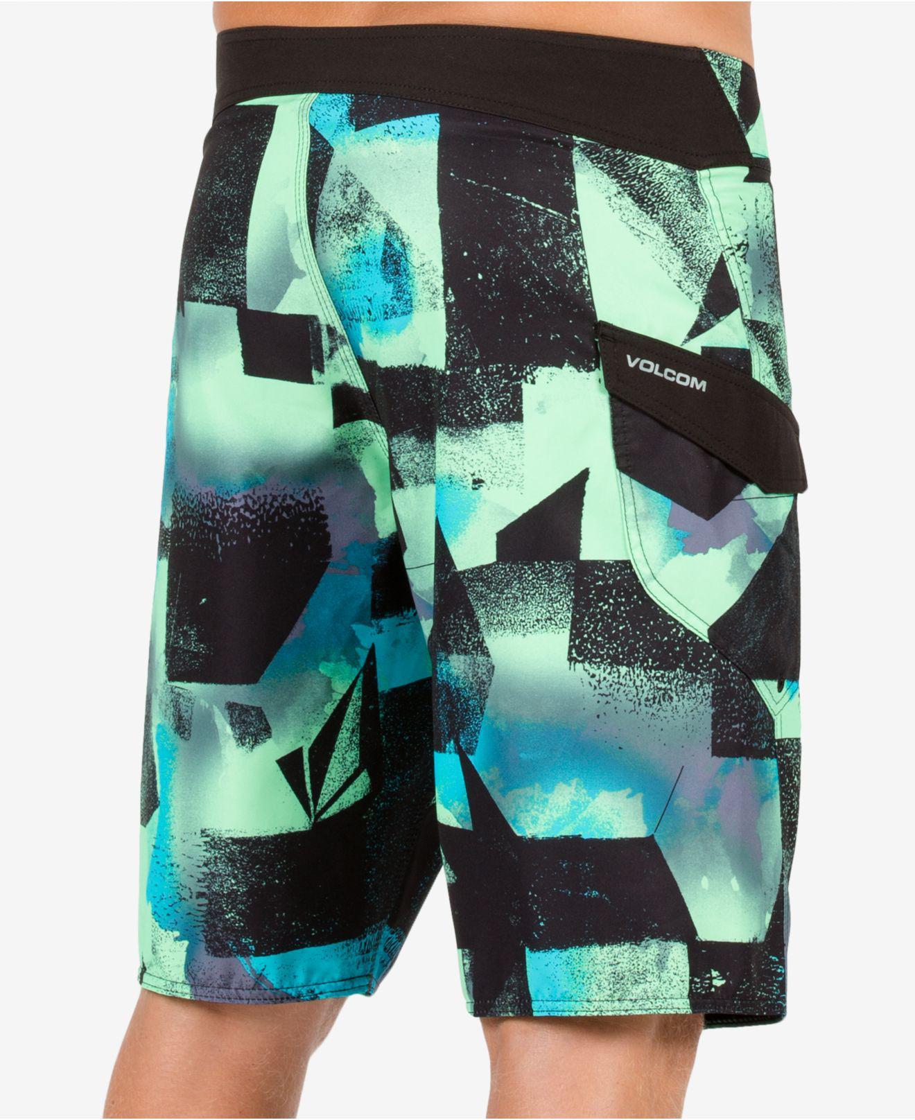 cff902ea34 Lyst - Volcom Men's Costa Paste Up Abstract-print Swim Trunks in ...