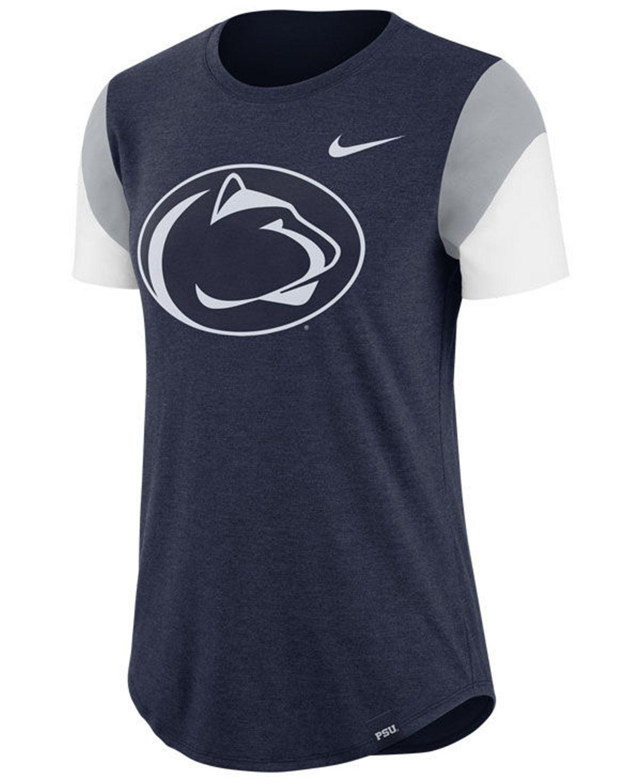 2ab7579a9 Lyst - Nike Penn State Nittany Lions Tri-blend Fan T-shirt in Blue