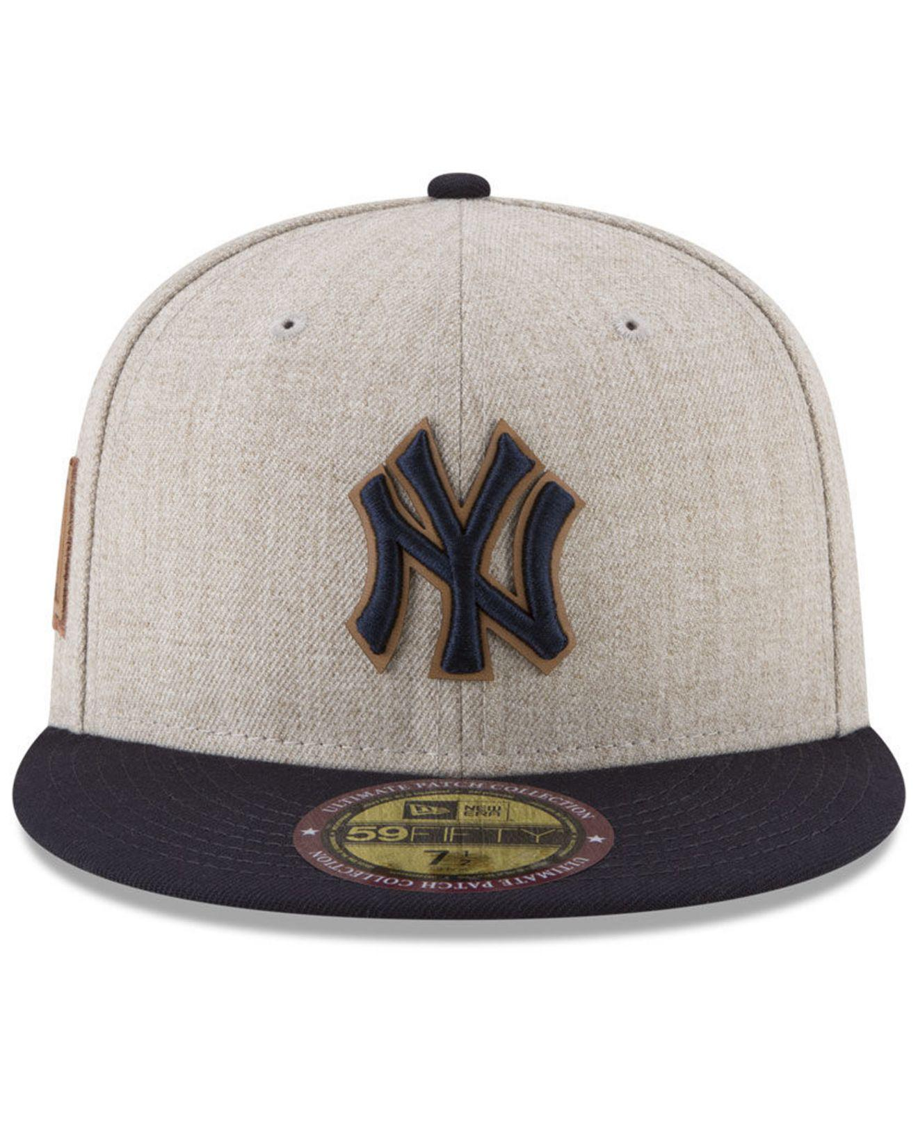 reputable site eea48 2ade4 KTZ New York Yankees Leather Ultimate Patch Collection 59fifty ...