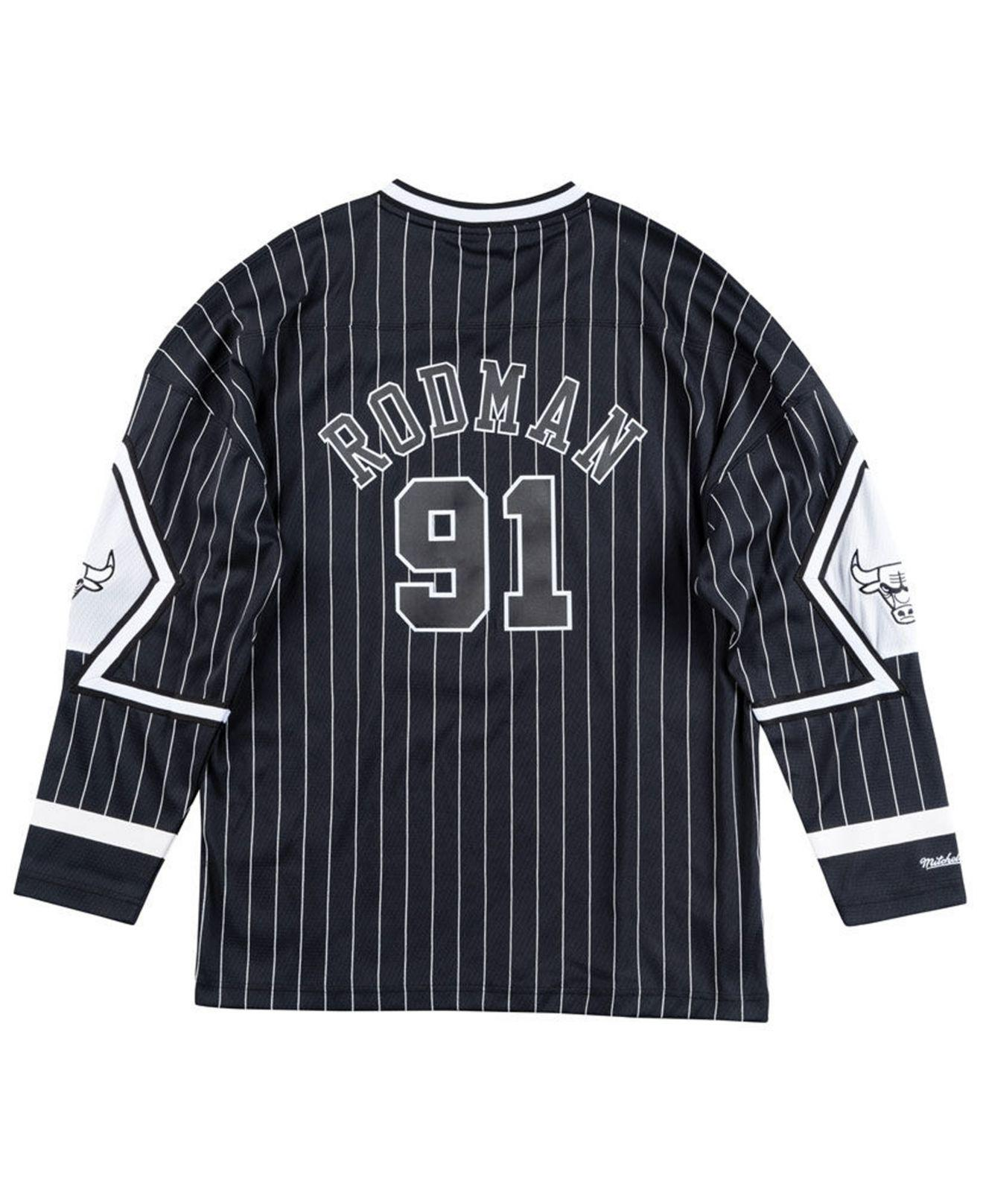 c09f35db5 Lyst - Mitchell   Ness Dennis Rodman Chicago Bulls Concord Collection Jersey  in Black for Men