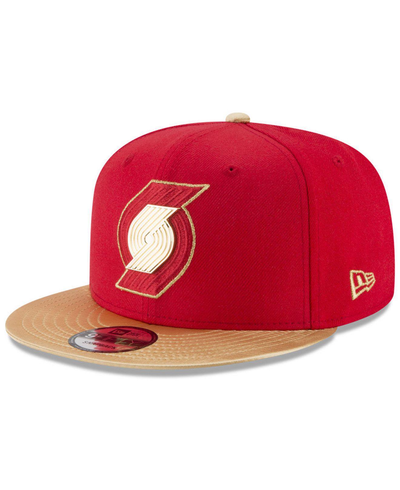 innovative design 658b3 d1f01 KTZ. Men s Red Triple Gold 9fifty Snapback Cap