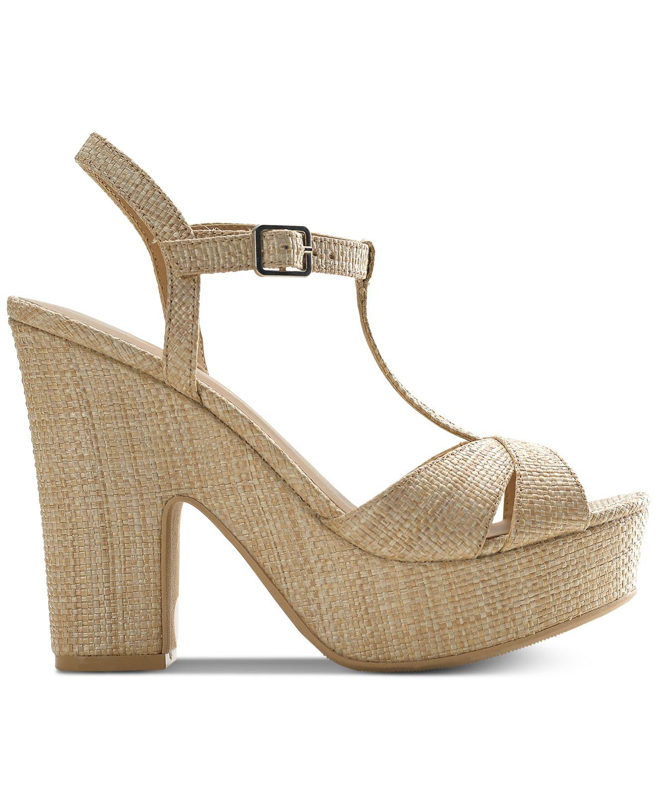 d7185ff0394b Lyst - American Rag Jamie T-strap Platform Dress Sandals