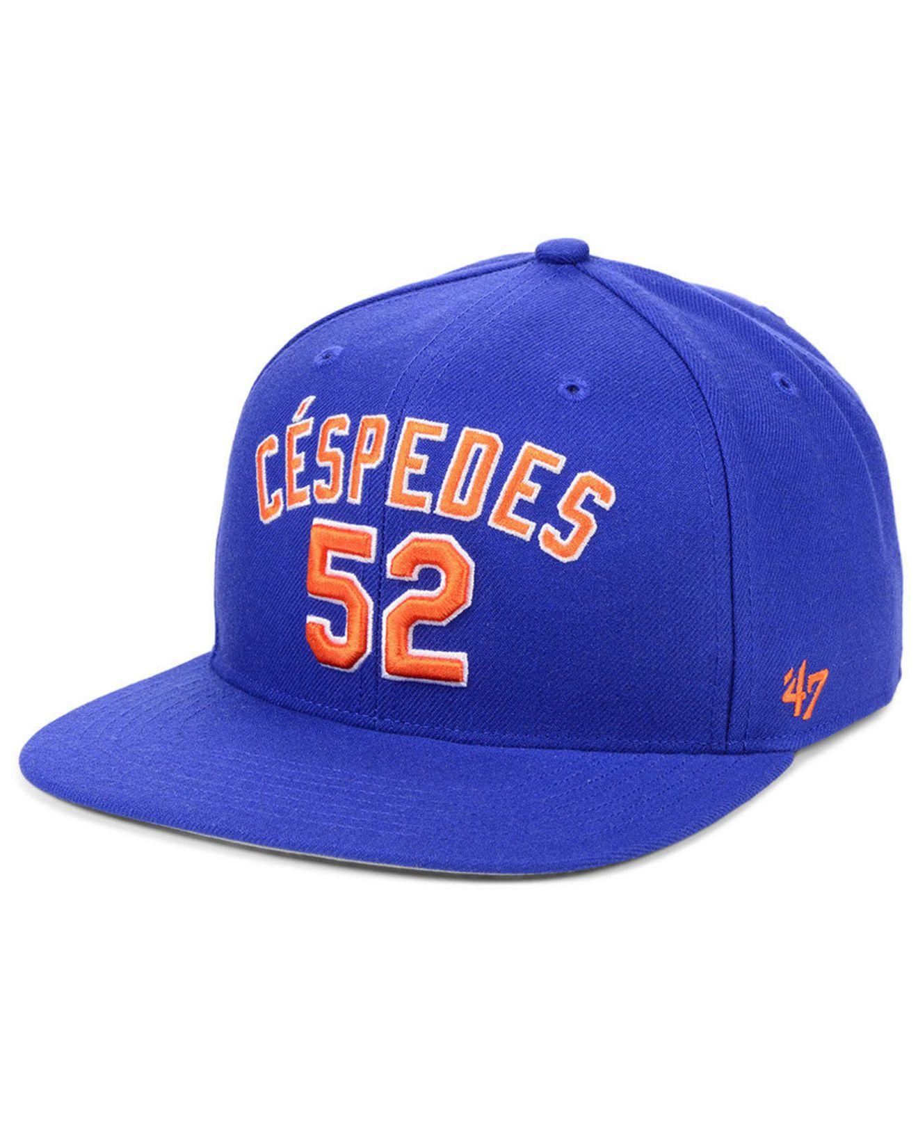 huge selection of ec7c7 caced 47 Brand. Men s Blue Yoenis Cespedes New York Mets Player Snapback Cap