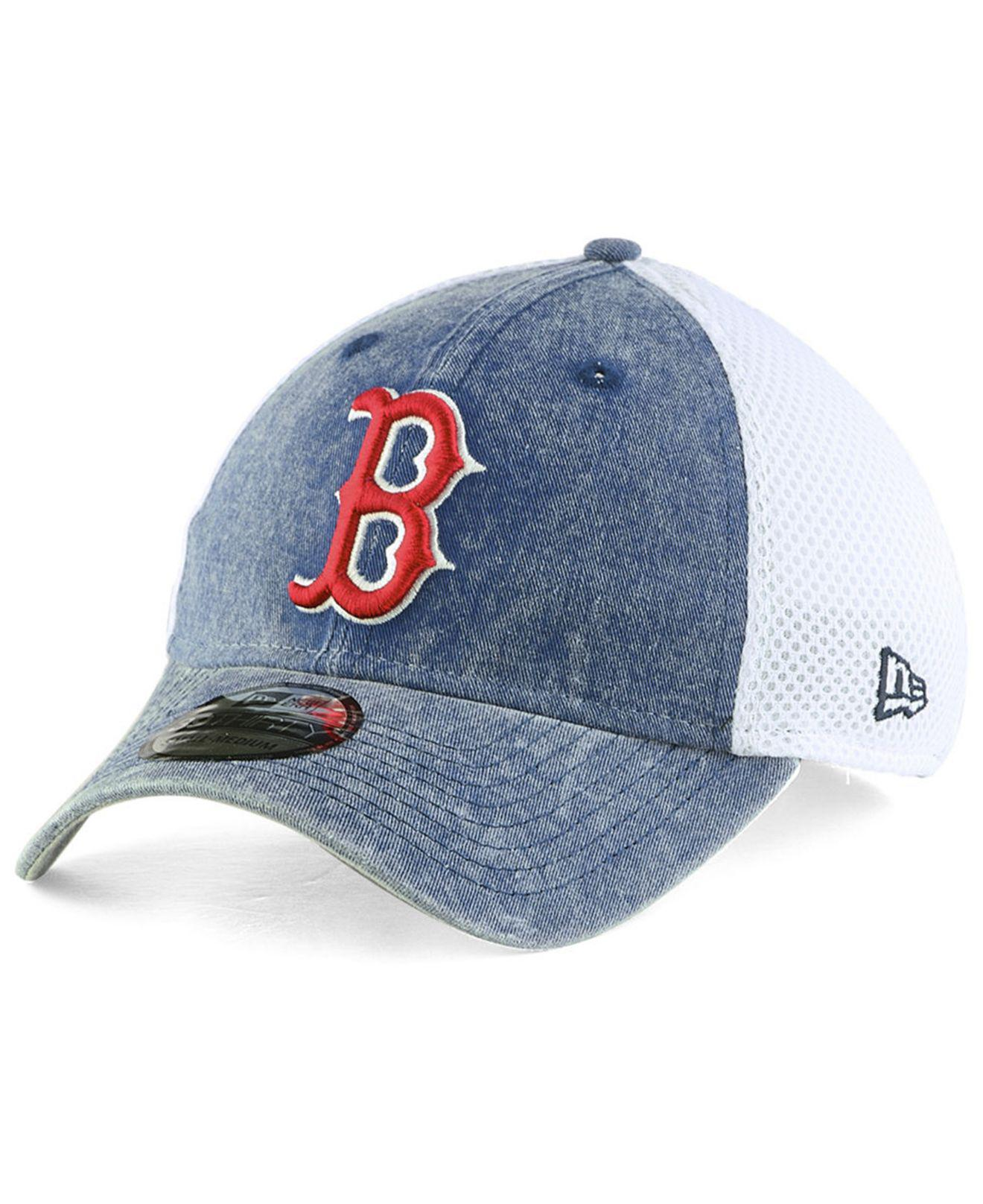 198b7390e44 ... greece lyst ktz boston red sox hooge neo 39thirty cap in blue for men  1563f 347d4