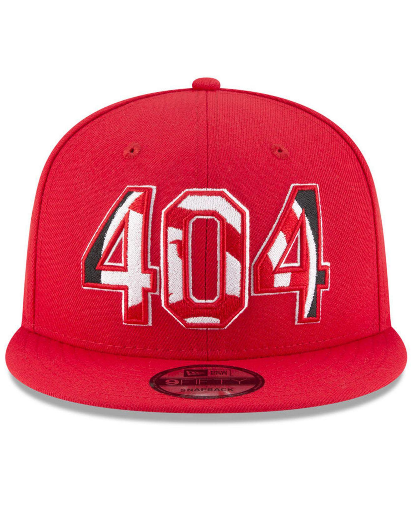 d2b24925 Lyst - KTZ Atlanta Hawks Area Code 9fifty Snapback Cap in Red for Men