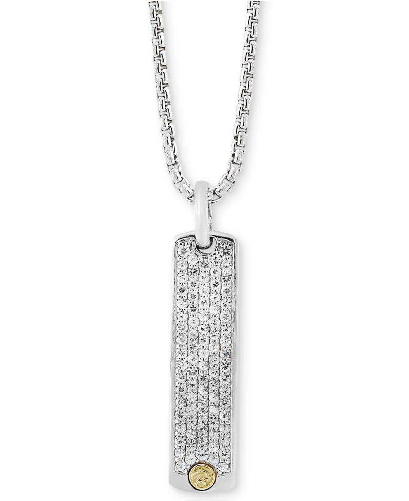 effy white jewelry pendant tcw diamond classica pave gold