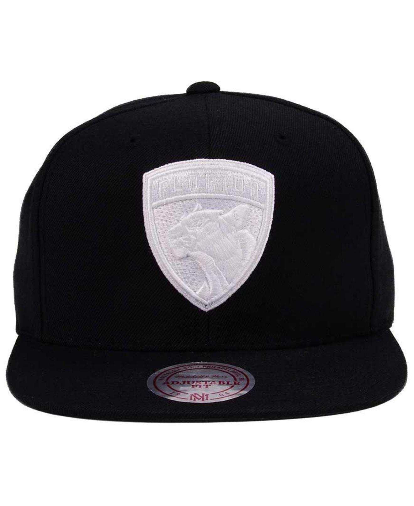 online store f26d3 5ba82 ... new zealand lyst mitchell ness respect snapback cap in black for men  c5e15 0c949