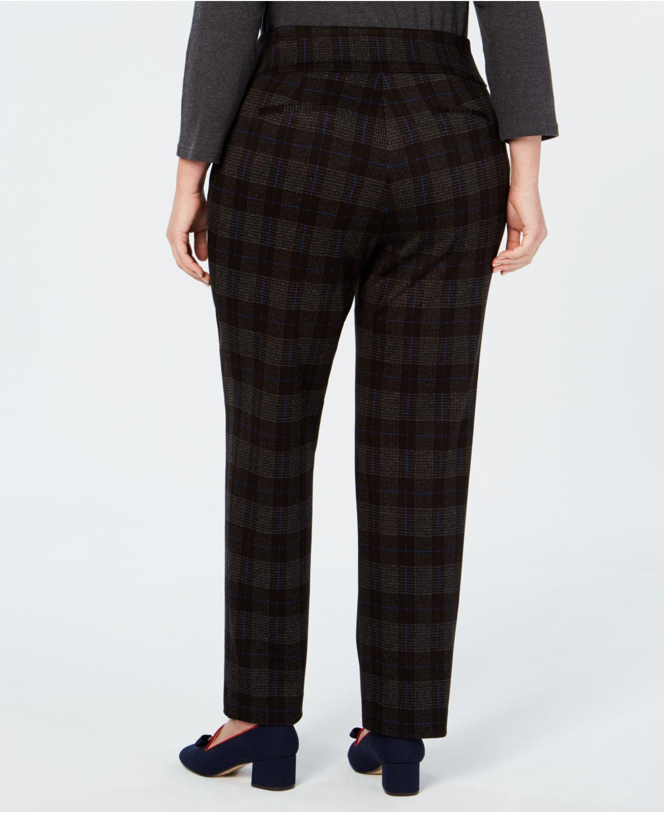d66d6e70ae8e9 Lyst - Charter Club Plus Size Plaid Pants