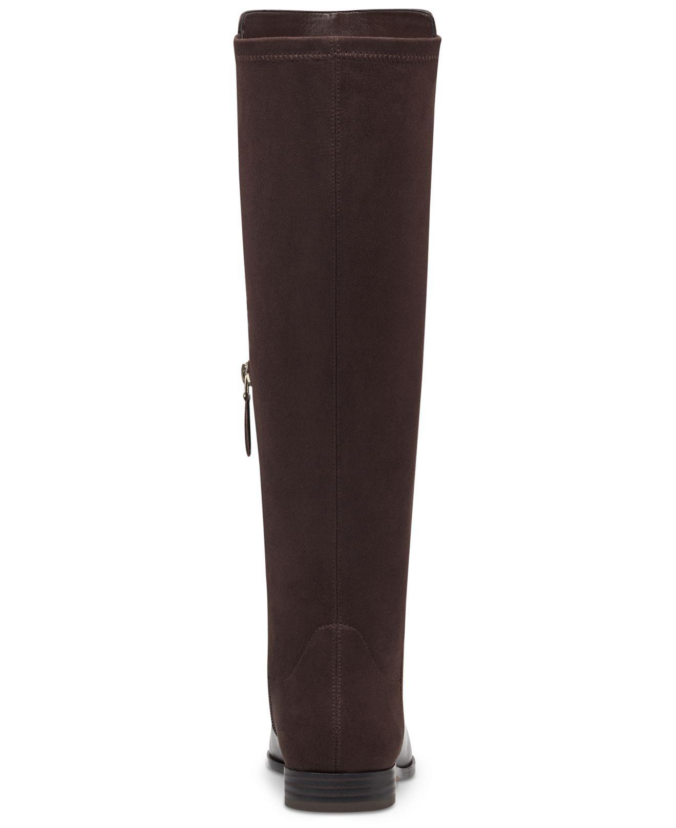 14b02bf51f8a Nine West - Brown Owenford Wide Calf Stretch Back Boots - Lyst. View  fullscreen