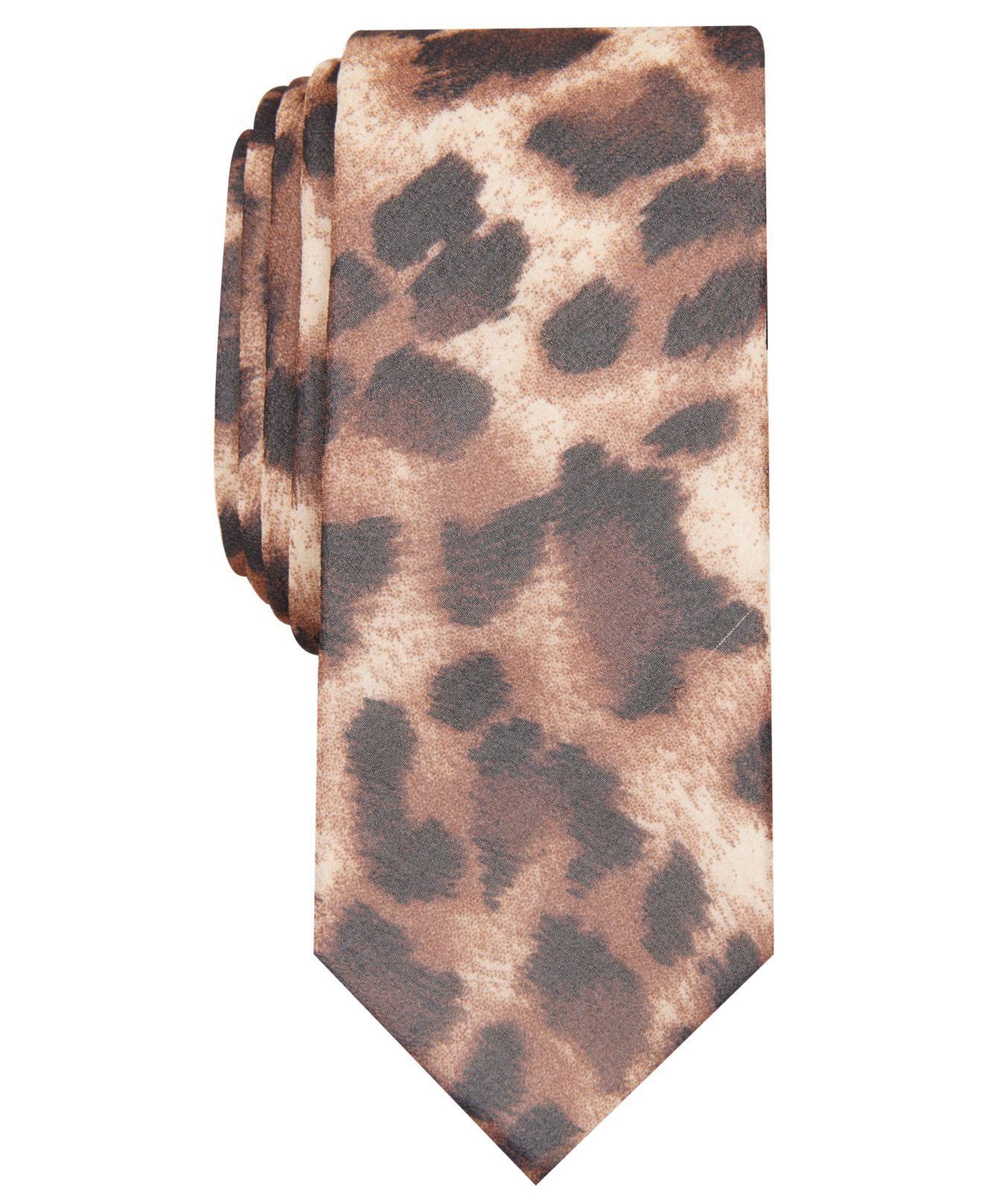 ae4eccfd6d4c INC International Concepts Skinny Persian Leopard-print Tie, Created ...