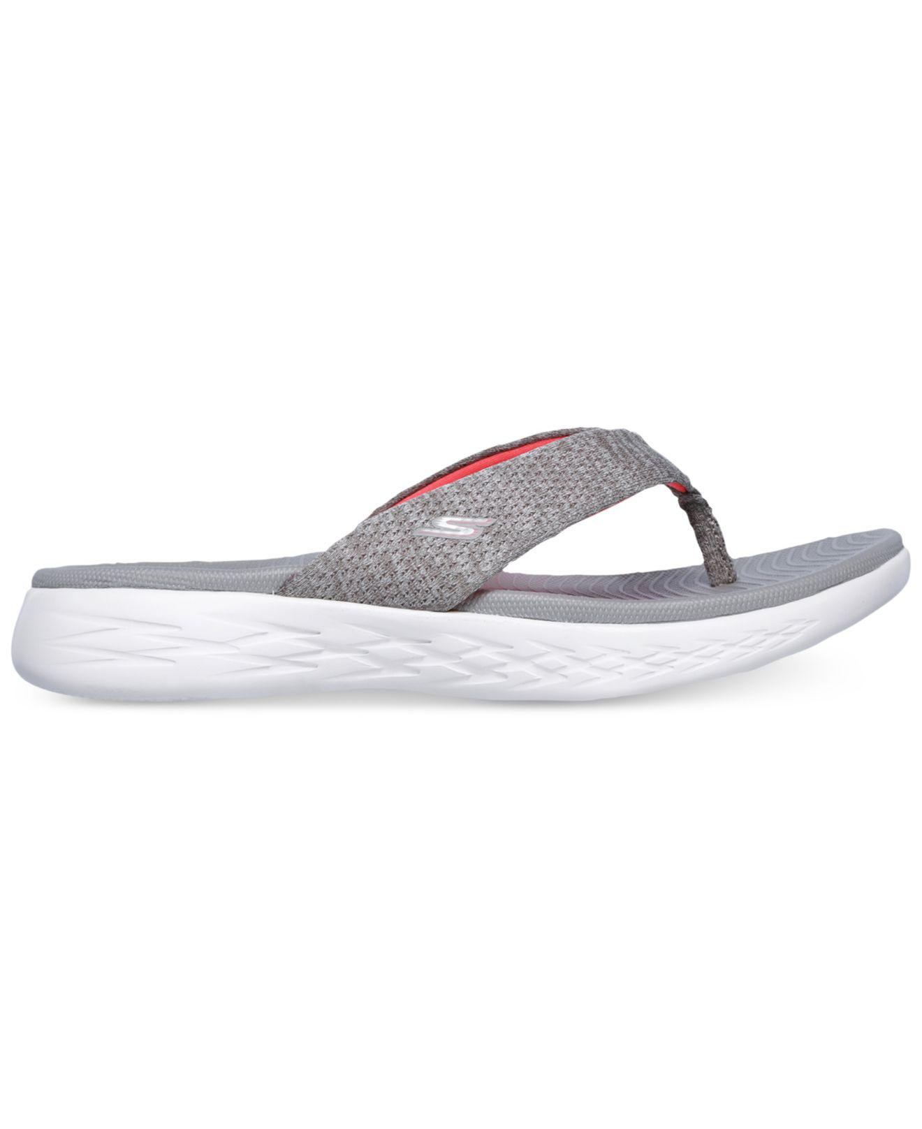 d0010a59 Skechers On The Go 600 - Preferred Athletic Thong Flip Flop Sandals From  Finish Line in Gray - Save 57% - Lyst
