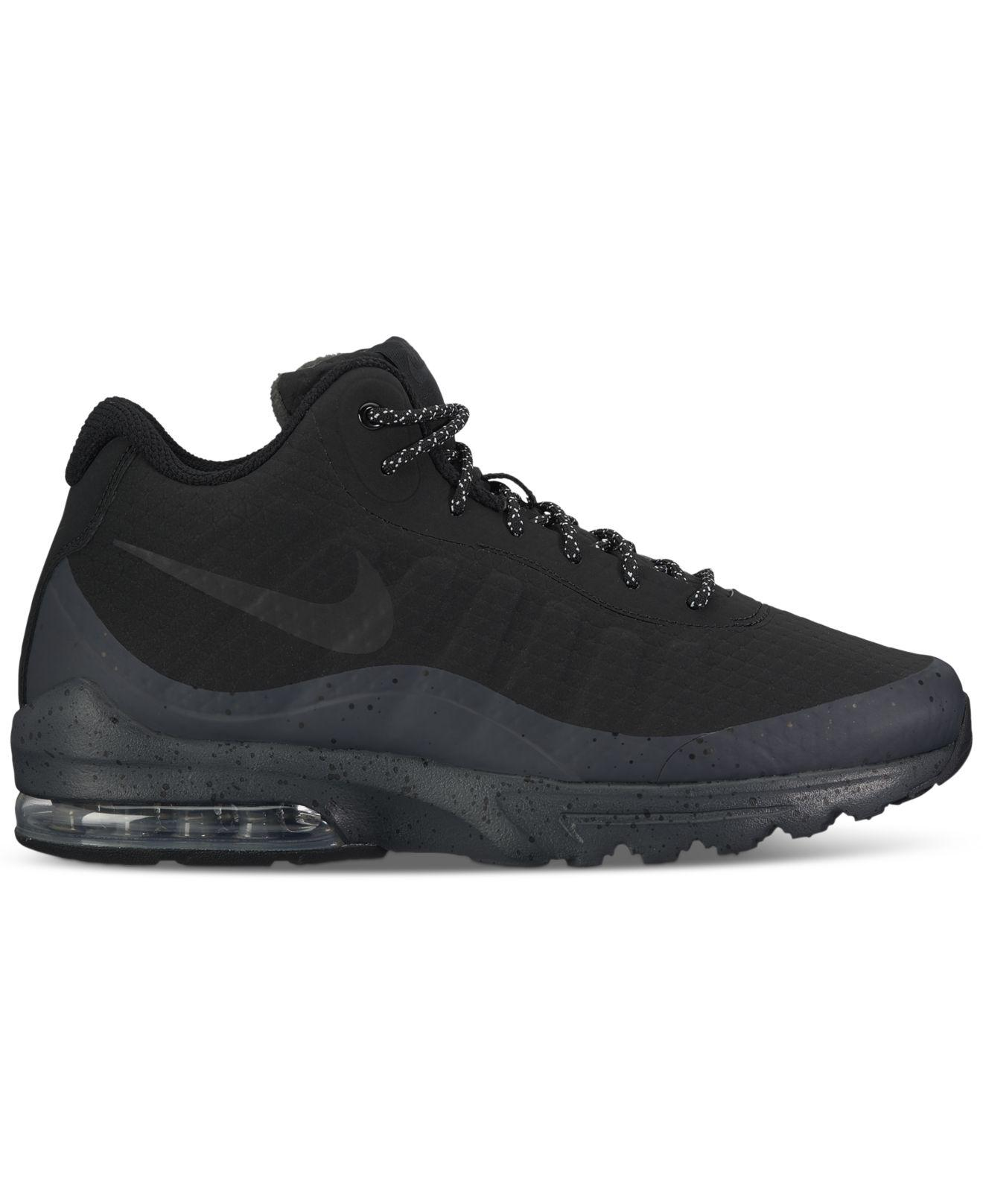 3326b7d2c19c Lyst - Nike Men s Air Max Invigor Mid Running Sneakers From Finish Line in  Black for Men