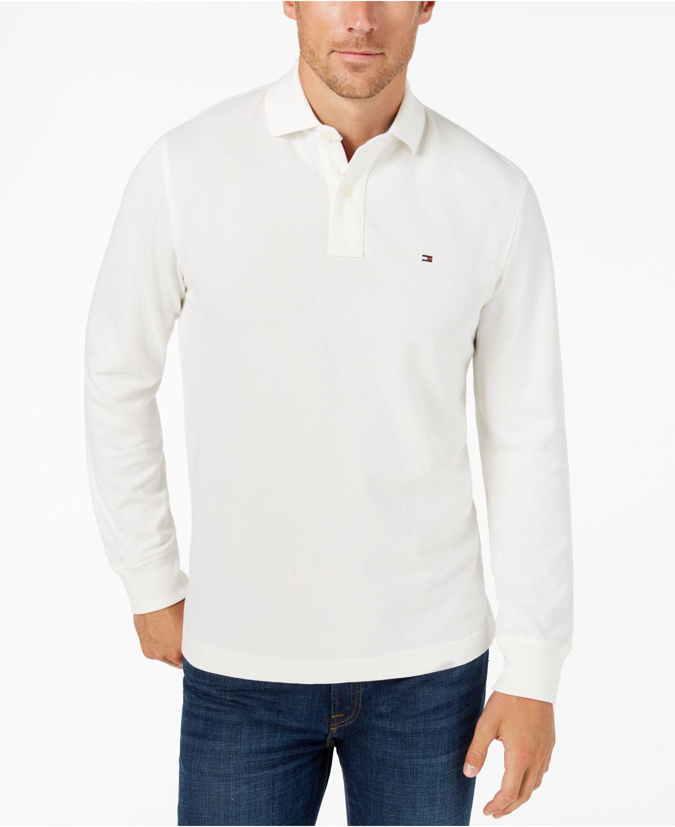 bd0868e93a2590 Lyst - Tommy Hilfiger Classic Fit Long Sleeve Polo Shirt