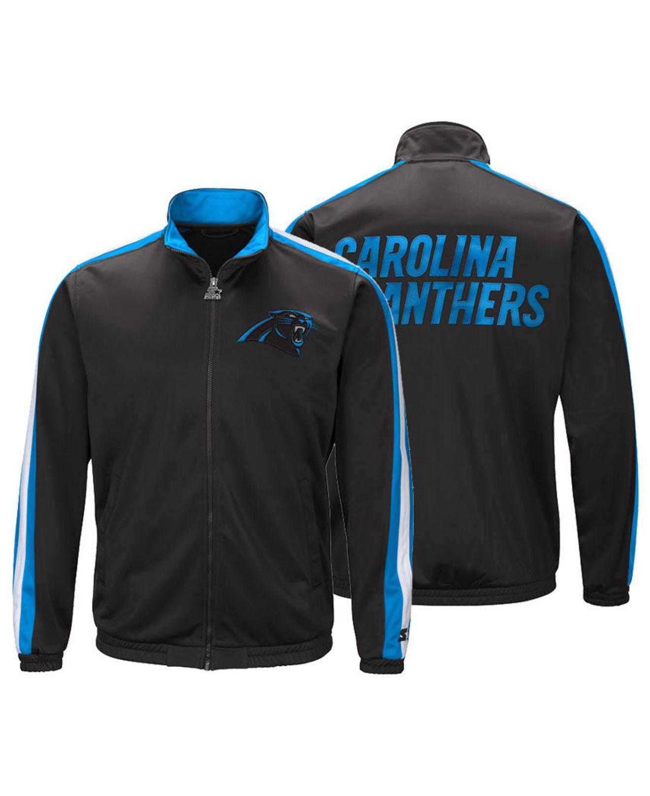 brand new 2c2d4 0c6d1 Starter Carolina Panthers The Challenger Track Jacket in ...
