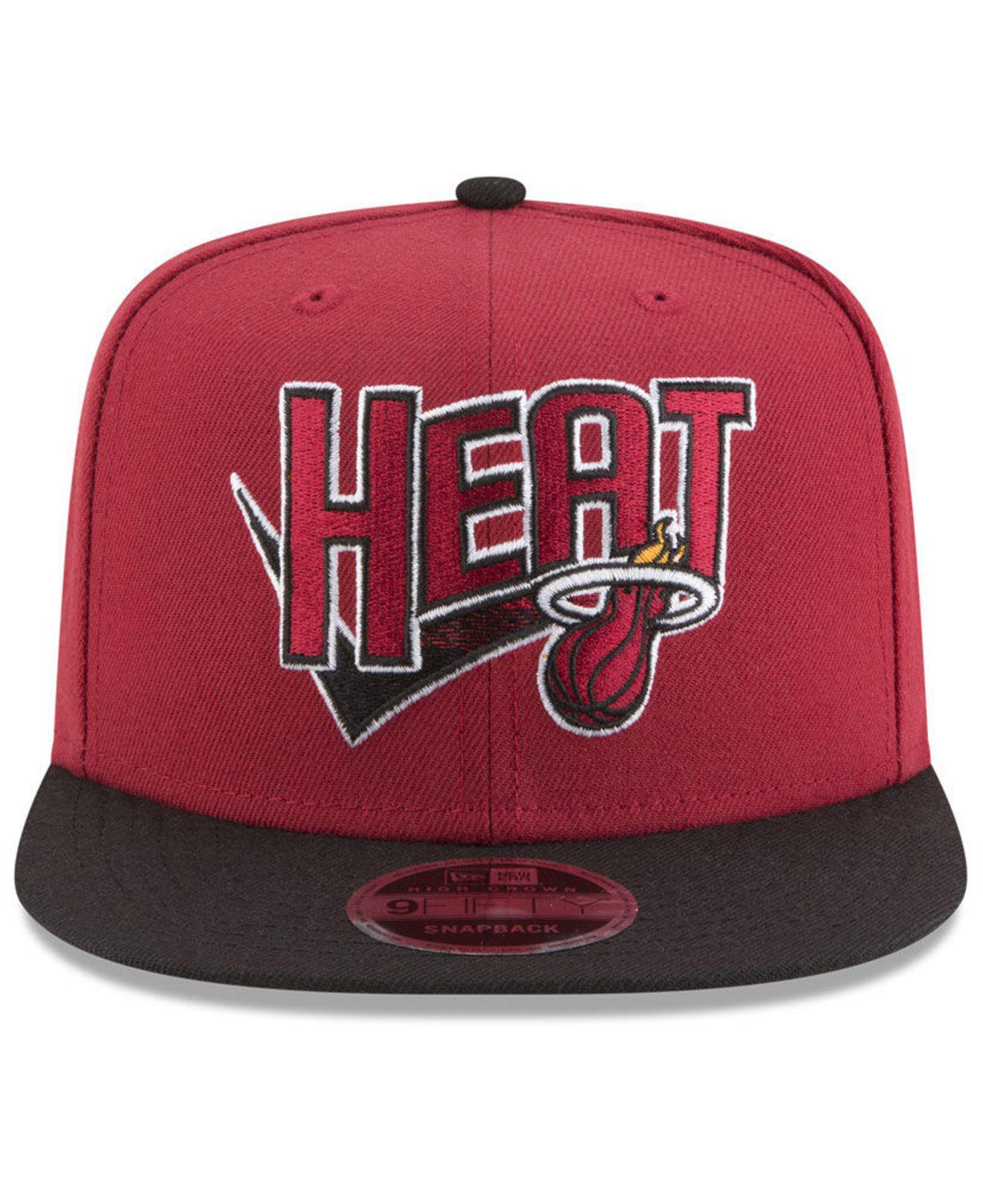 best sneakers 90457 44dc0 ... new arrivals lyst ktz miami heat retro tail 9fifty snapback cap in red  for men 8657c
