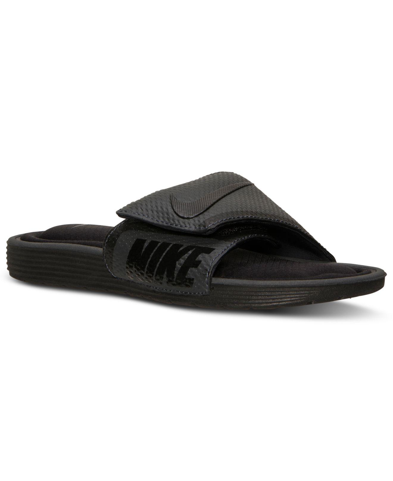 2ed8f7d4e Lyst - Nike Men s Solarsoft Comfort Slide Sandals From Finish Line ...