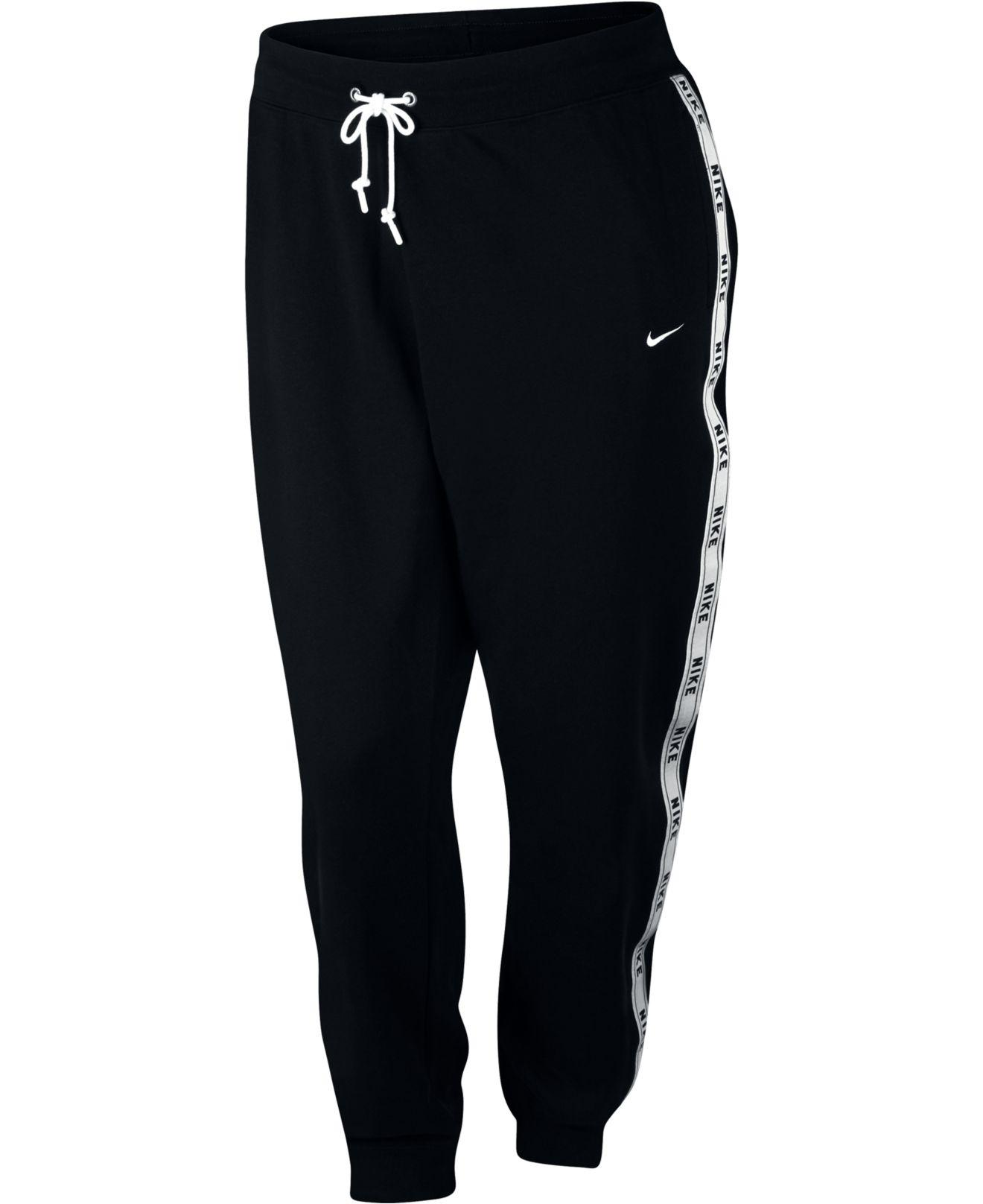 dc33a87d33be7 Nike - Black Plus Size Sportswear Logo Joggers - Lyst. View fullscreen