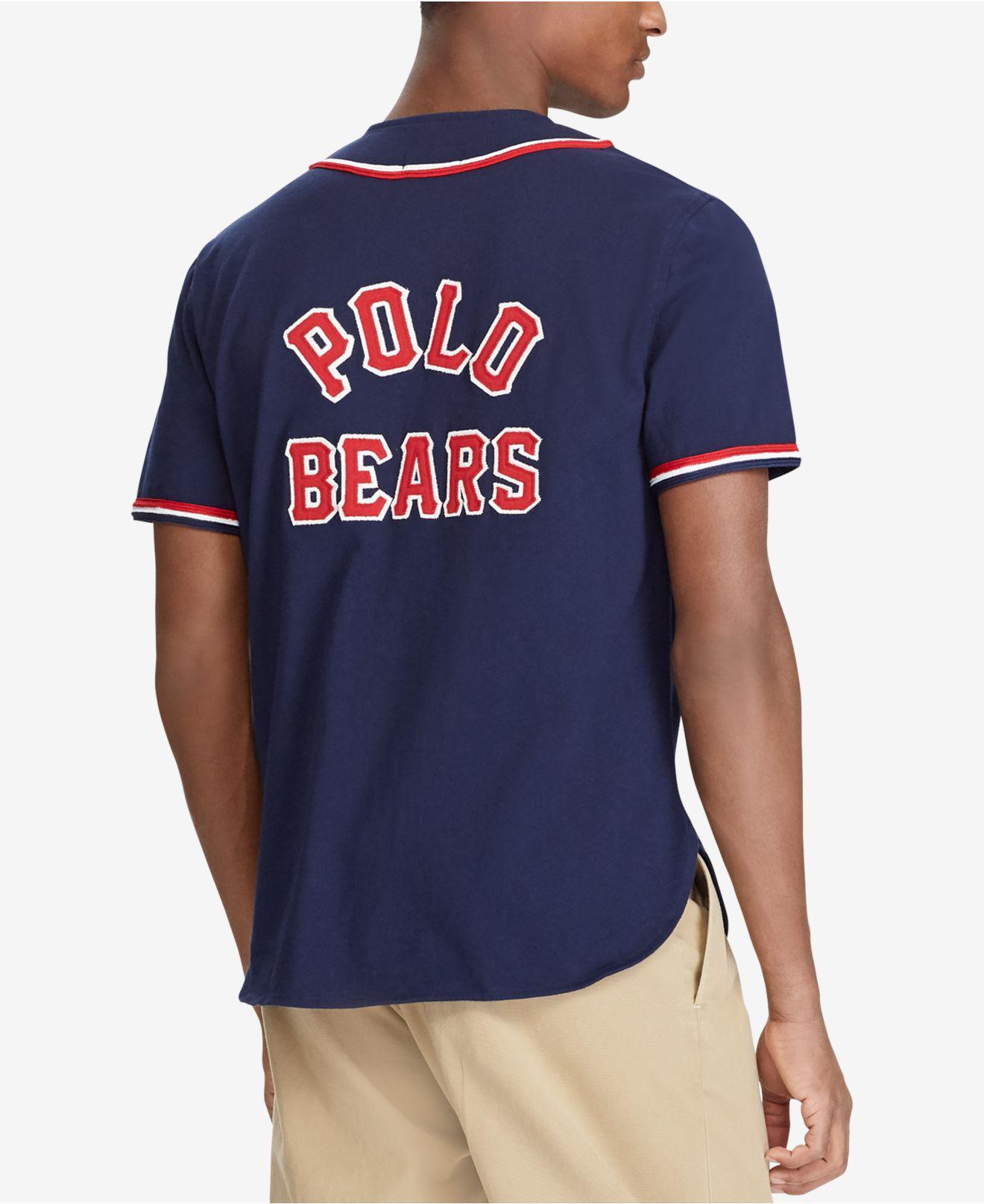 9c8e8f42b06 Polo Ralph Lauren Polo Bear Baseball Jersey in Blue for Men - Lyst