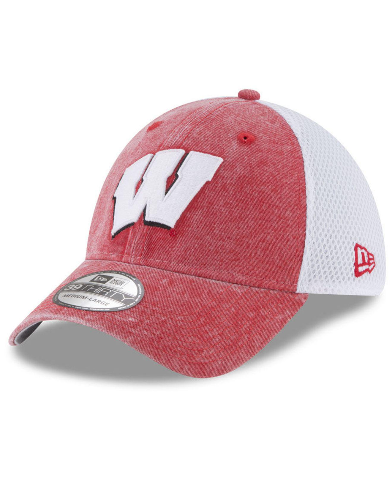 053f408131b Lyst - KTZ Wisconsin Badgers Washed Neo 39thirty Cap for Men