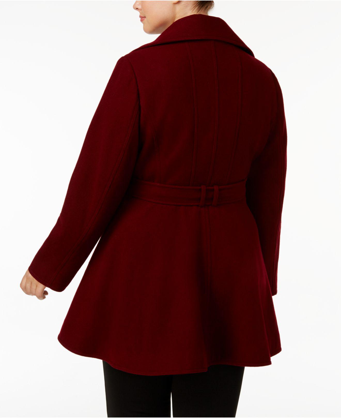 50bcab91cb3e7 Lyst - Inc International Concepts I.n.c. Plus Size Skirted Walker Coat
