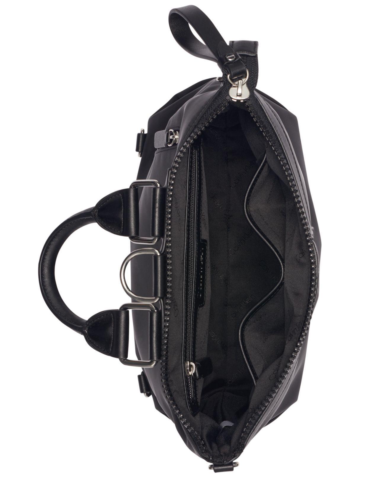 2605ad26a568 Calvin Klein - Black Calvn Klein Lane Backpack Logo Crossbody - Lyst. View  fullscreen