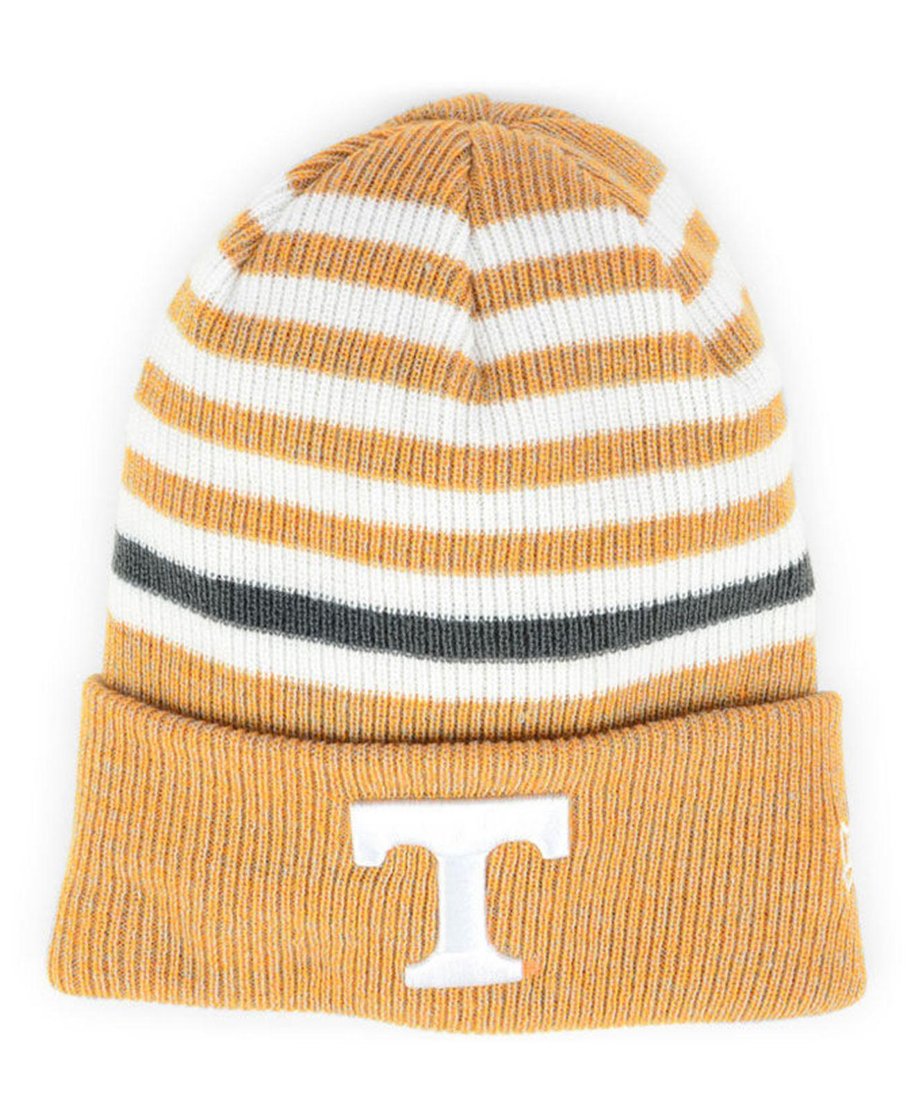 reputable site f4504 0c7cd KTZ - Orange Tennessee Volunteers Striped Chill Knit Hat for Men - Lyst