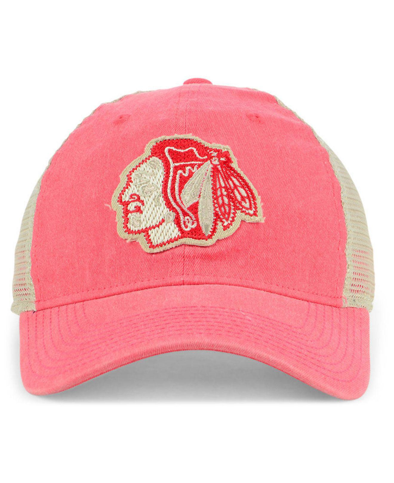 promo code 47072 6ac04 adidas Chicago Blackhawks Sun Bleached Slouch Cap in Red for Men - Lyst