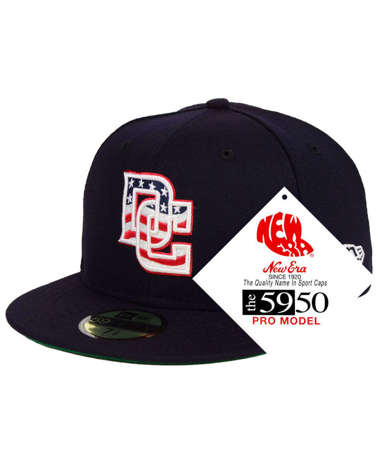 1b98399fff7 Lyst - KTZ Washington Nationals Retro Stock 59fifty Fitted Cap in ...