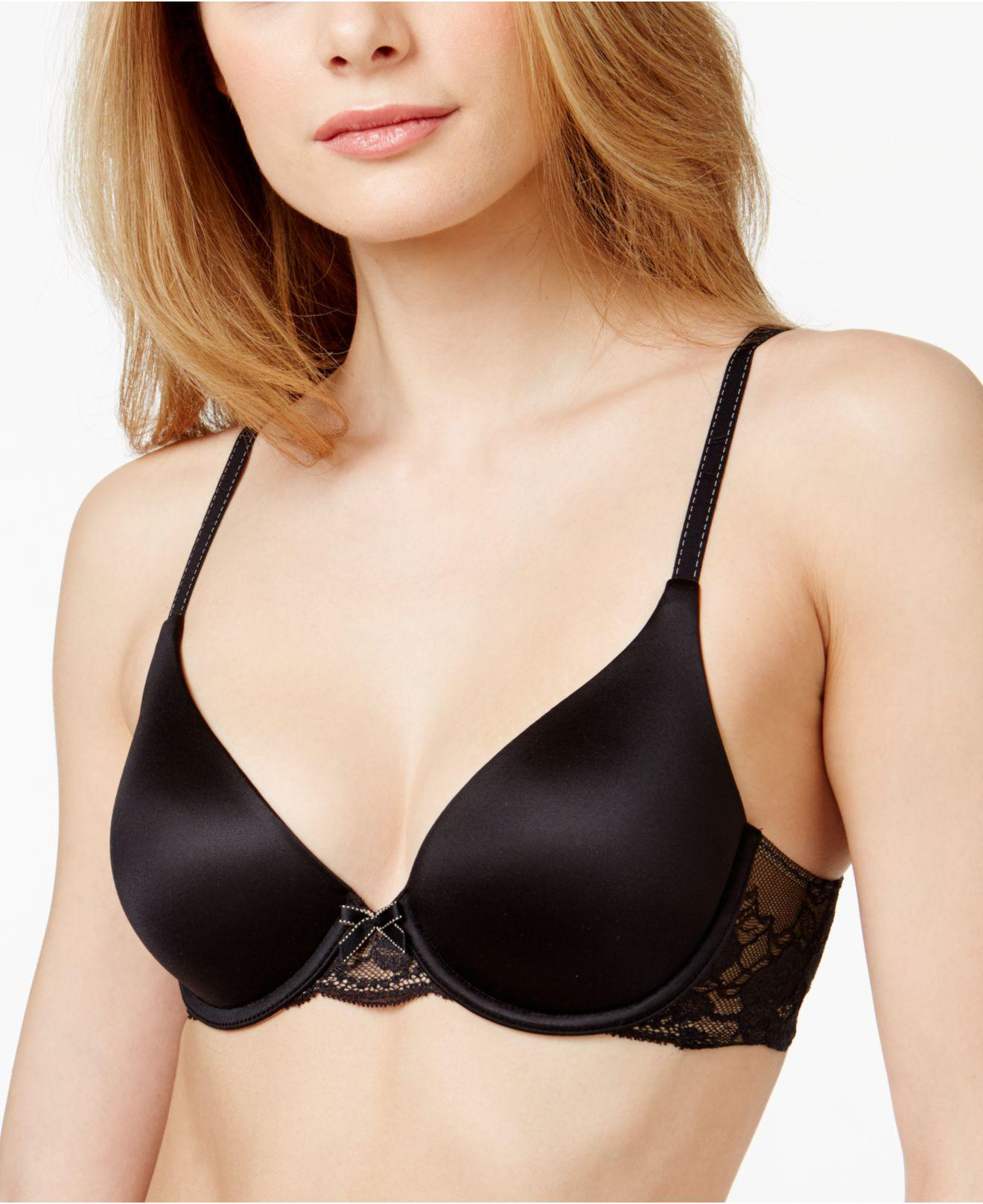 1f5322baa5 Lyst - Maidenform Comfort Devotion Embellished Demi Bra 9441 in Black