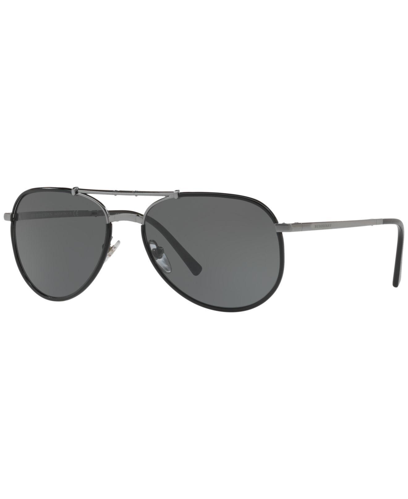 8ce67017a26e Burberry. Men s Gray Sunglasses ...