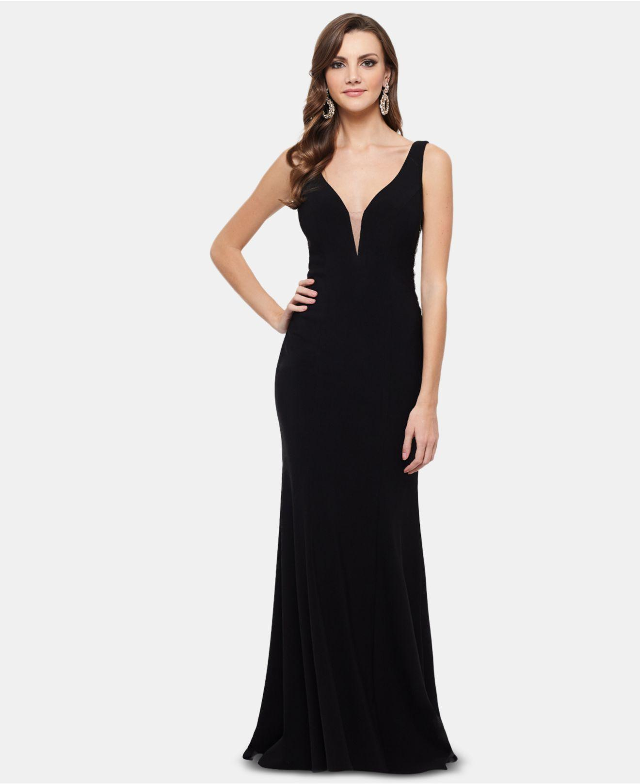 a293ddd6b2d27 Xscape Embellished Cutout Gown in Black - Lyst