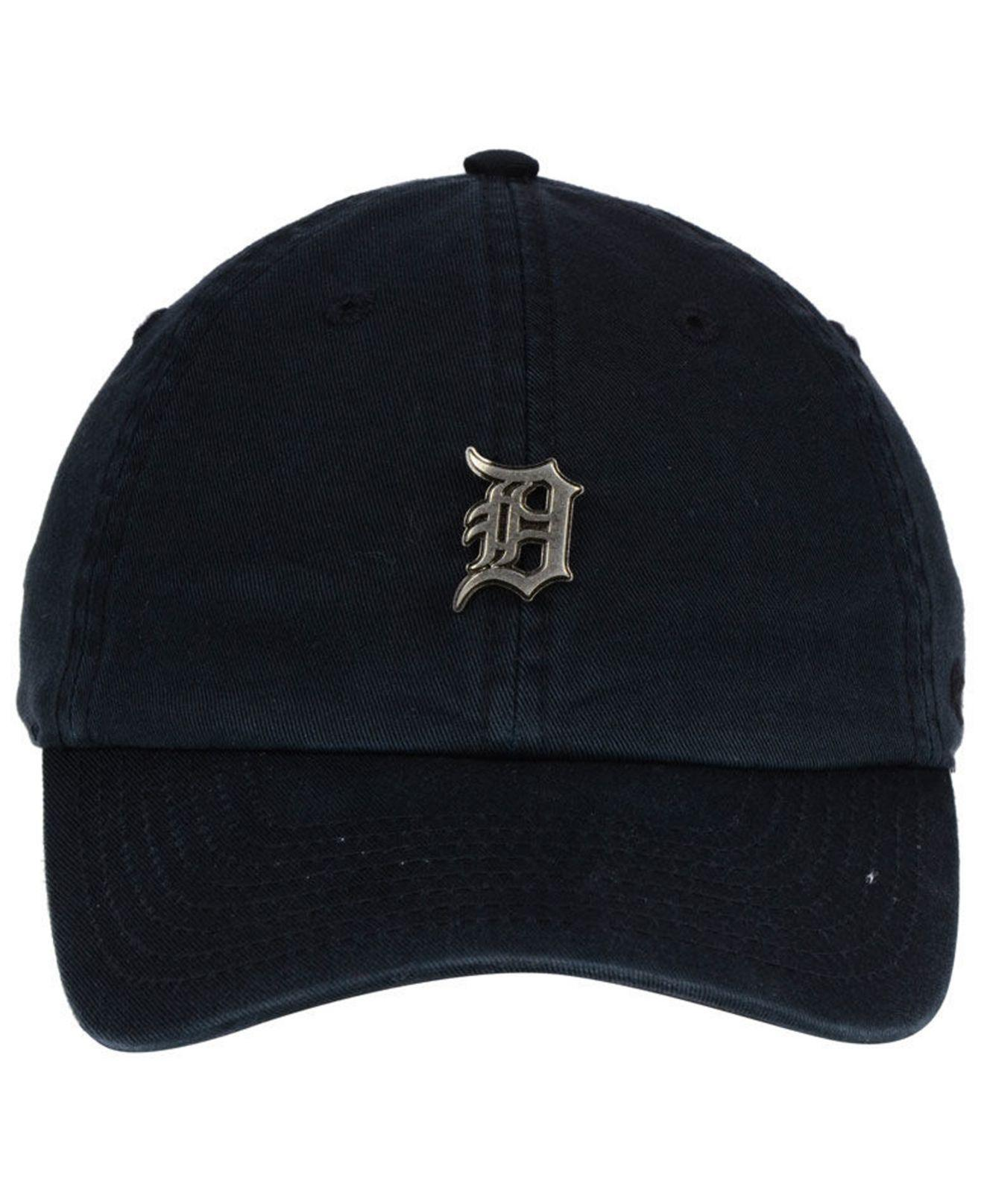 uk availability e5dc4 12268 ... germany lyst 47 brand detroit tigers hardware clean up cap in black for  men db8f4 a63d6