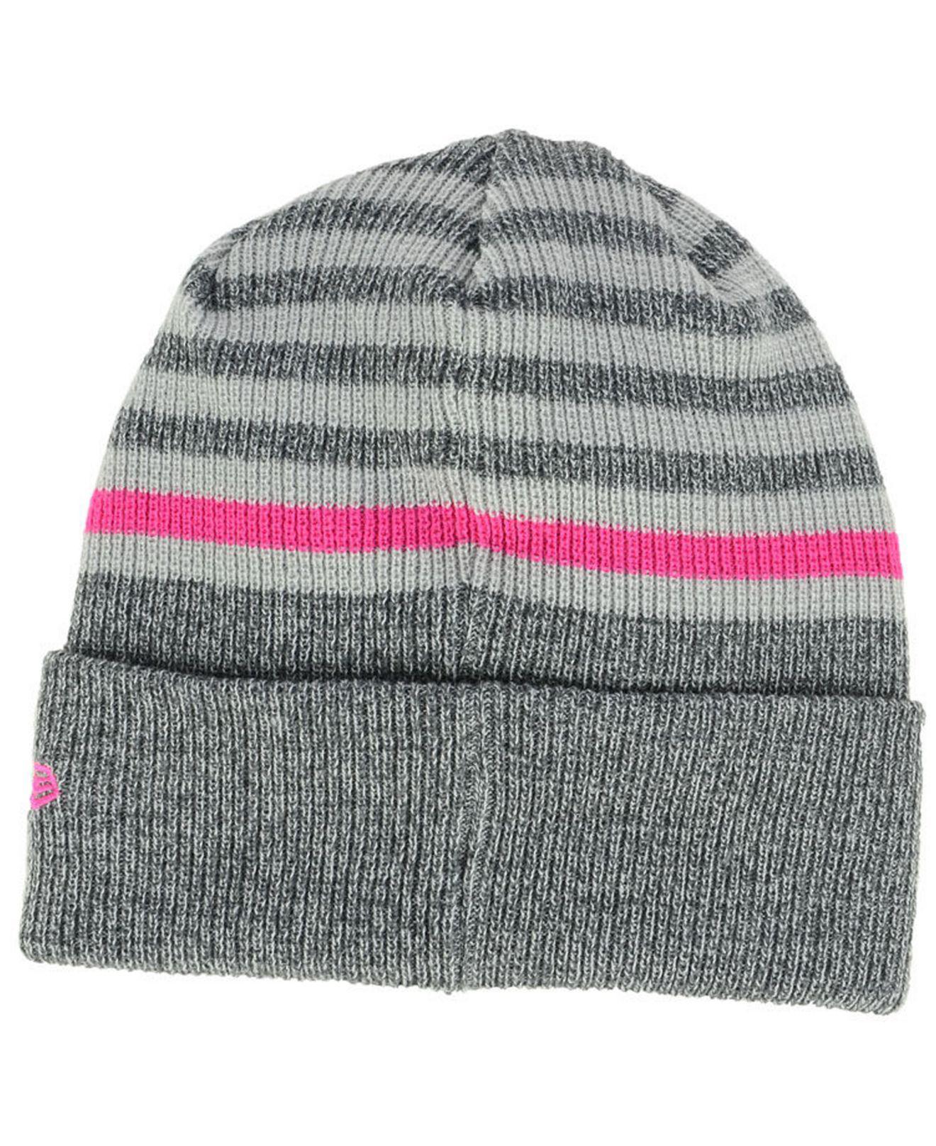 quality design 95ca6 06cc0 ... discount code for lyst ktz houston rockets striped cuff knit hat in  gray 21f5c bb5f5