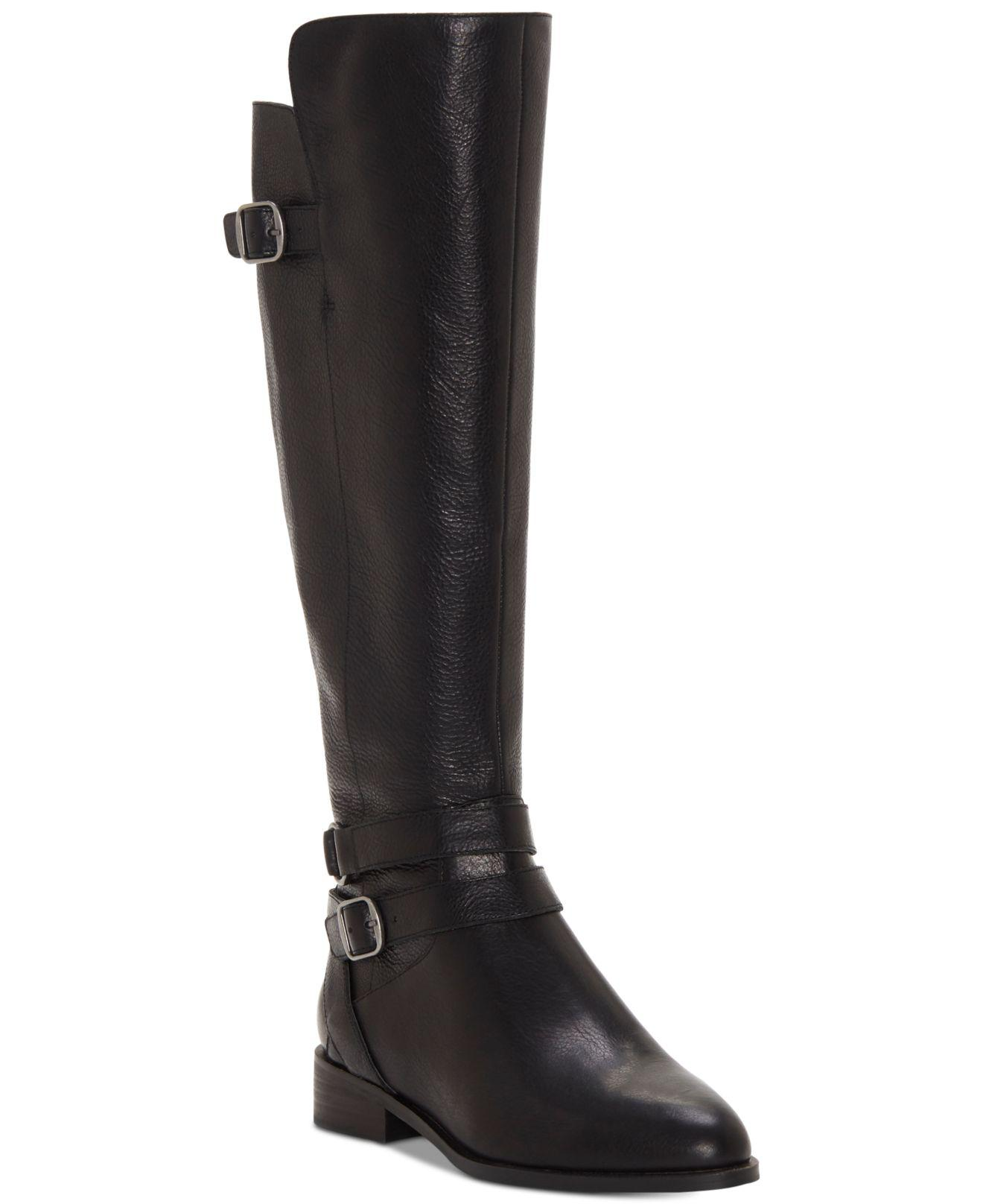 6cc1e73c3 Lyst - Lucky Brand Paxtreen Wide Calf Knee High Boot in Black - Save 41%