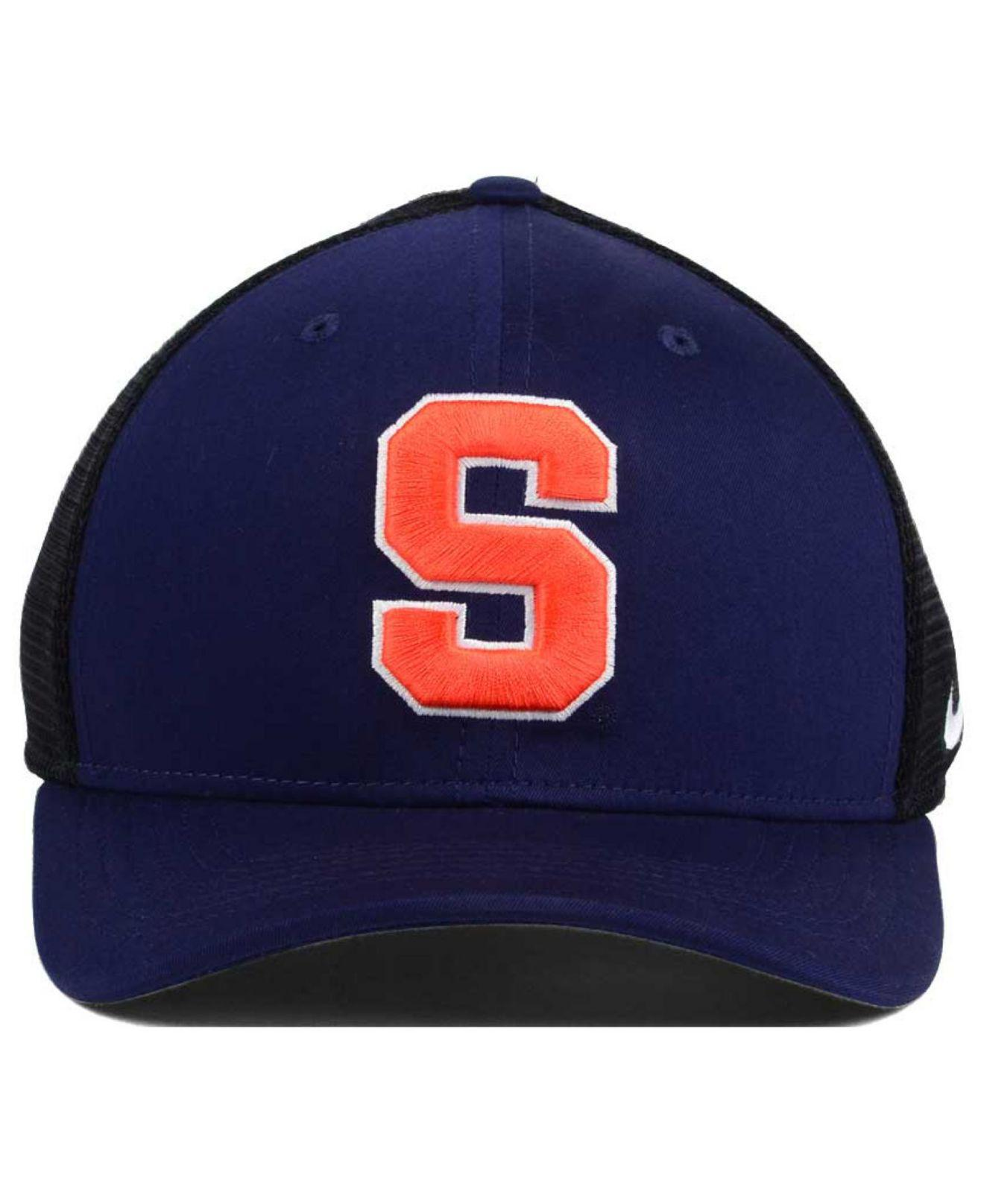 3d4b759eabc ... sweden lyst nike ncaa aero bill mesh swooshflex cap in blue for men  b2c00 33033