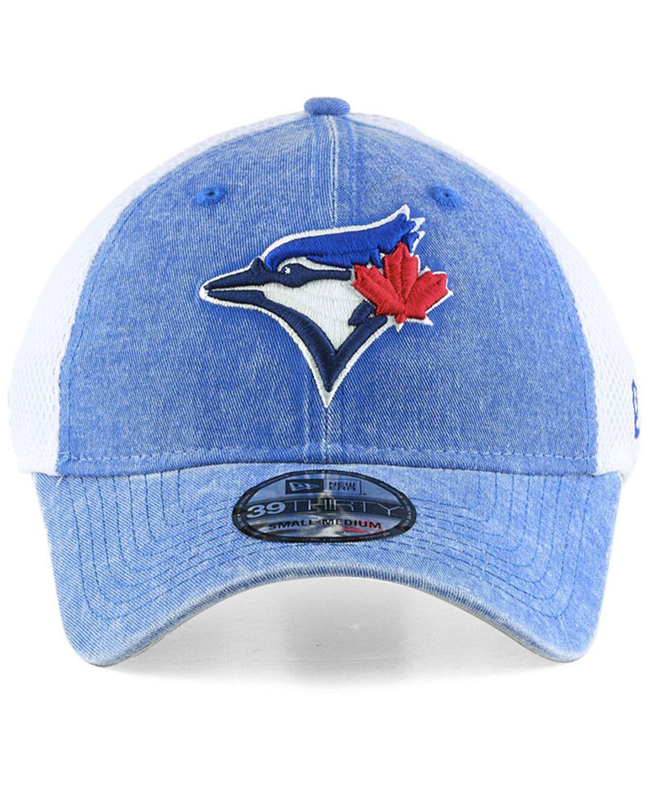 the latest 9a28c fbfc3 ... hot lyst ktz toronto blue jays hooge neo 39thirty cap in blue for men  d0845 b18b5