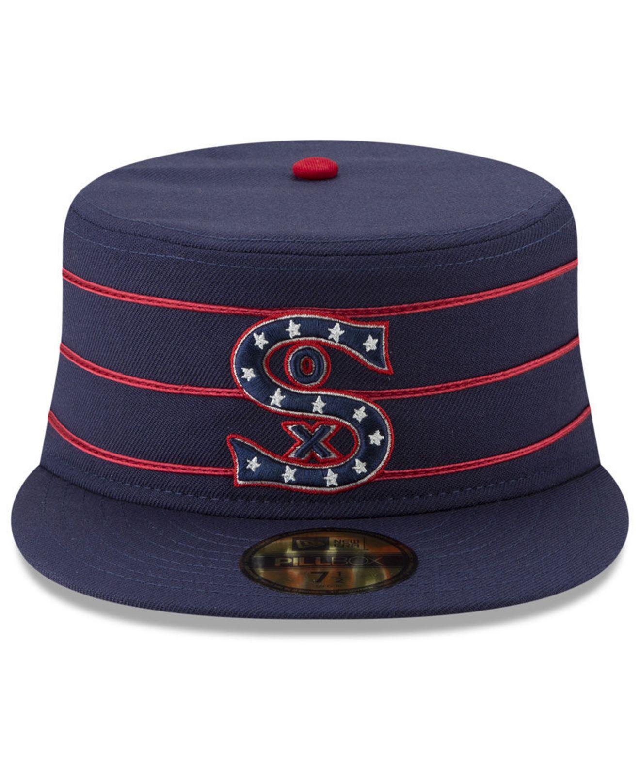 on sale ec6f7 58934 KTZ Chicago White Sox Pillbox 59fifty-fitted Cap in Blue for Men - Lyst