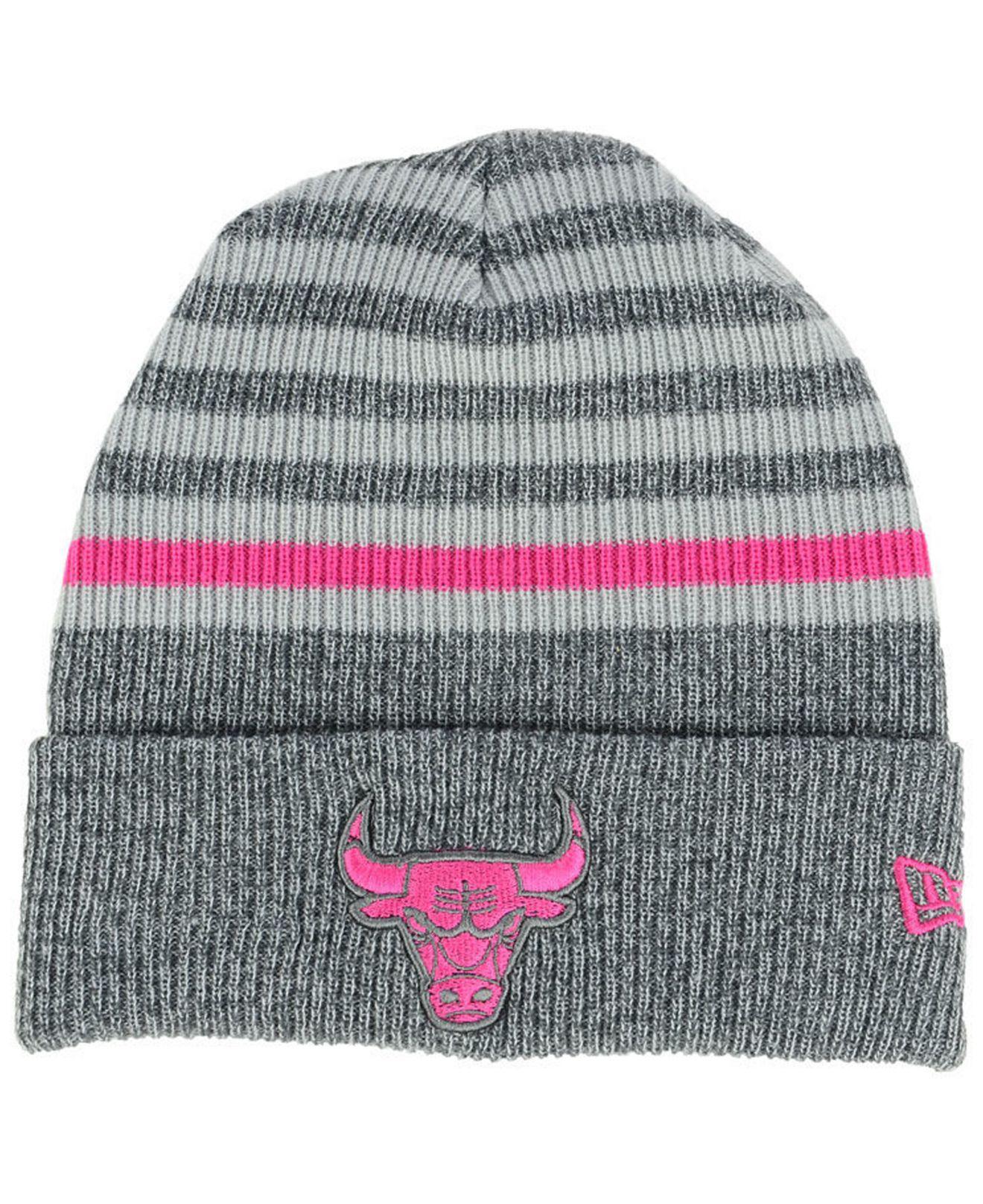 Lyst - KTZ Chicago Bulls Striped Cuff Knit Hat in Gray b5310814d57