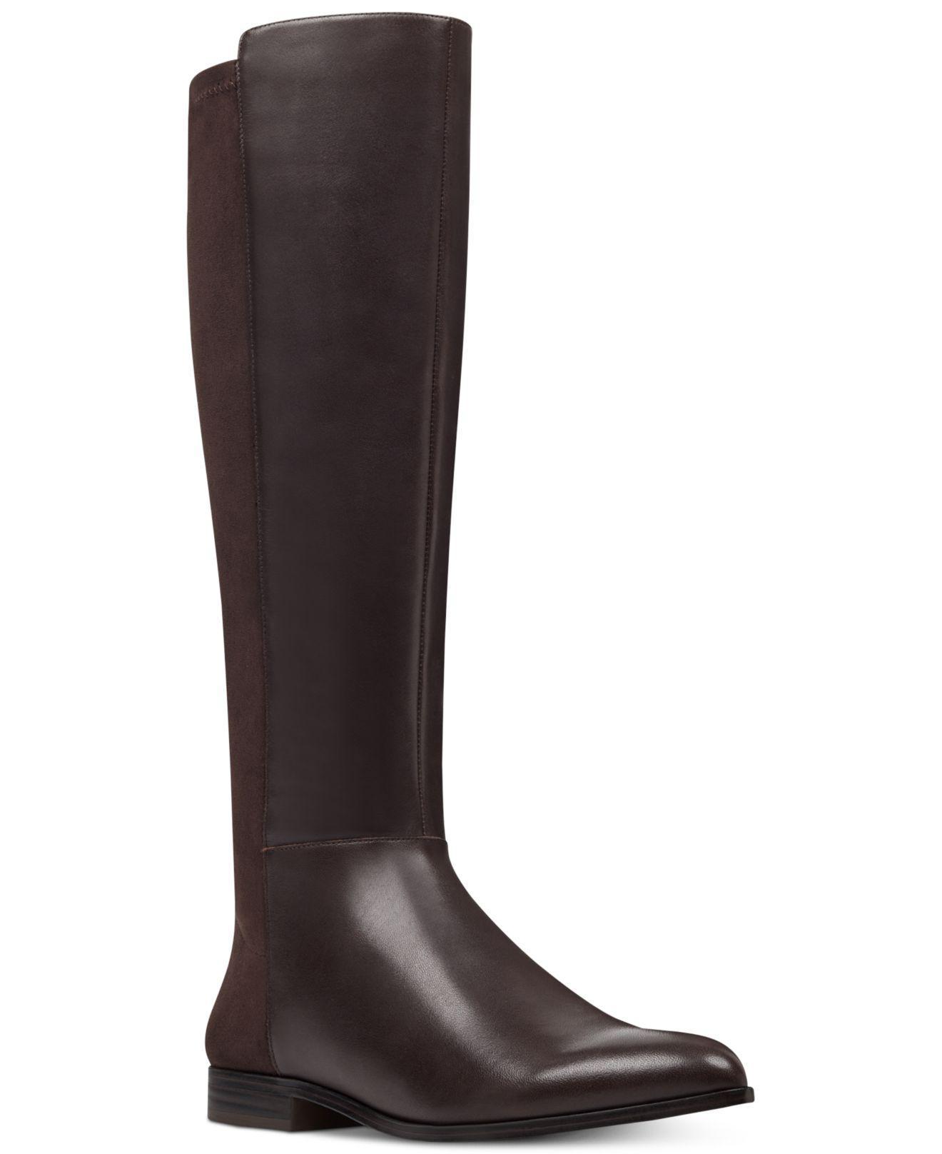 bdf5261c3ce9 Lyst - Nine West Owenford Wide Calf Stretch Back Boots in Brown ...