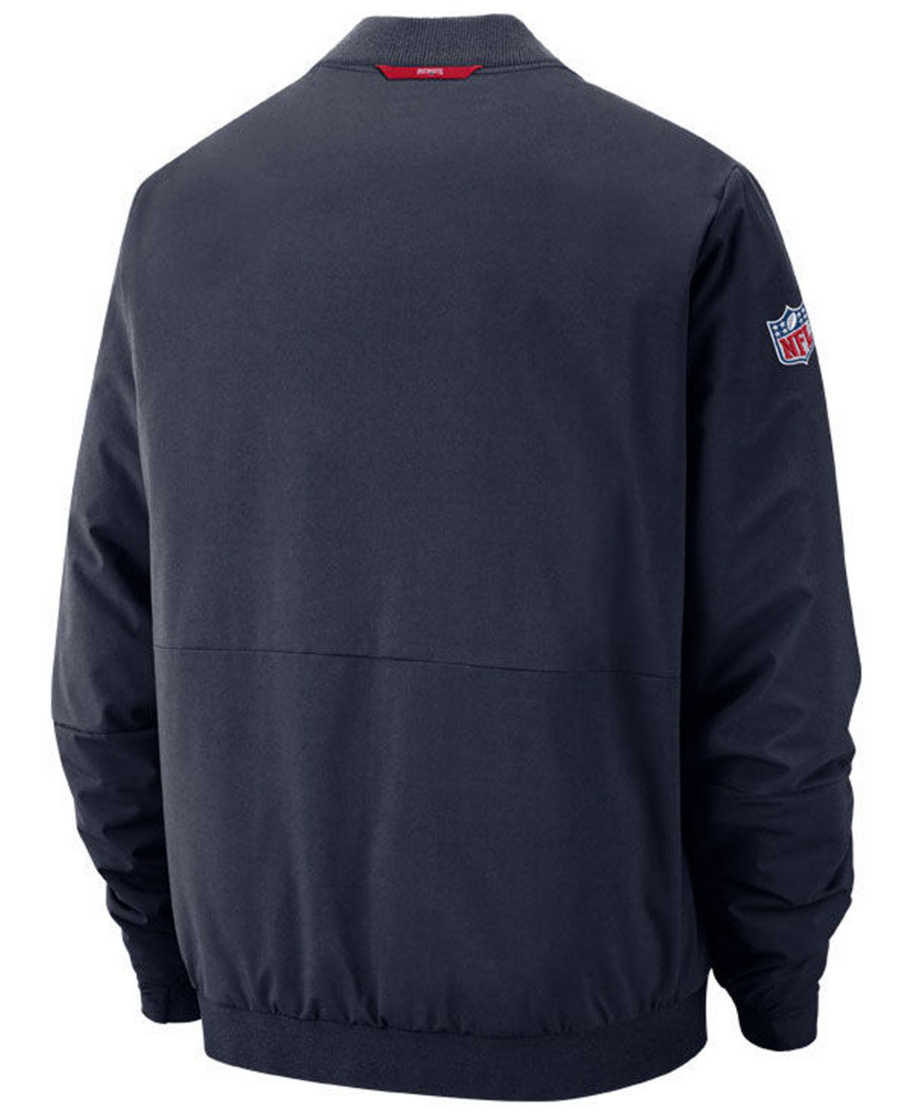 7411e5ee9f Lyst - Nike New England Patriots Bomber Jacket in Blue for Men