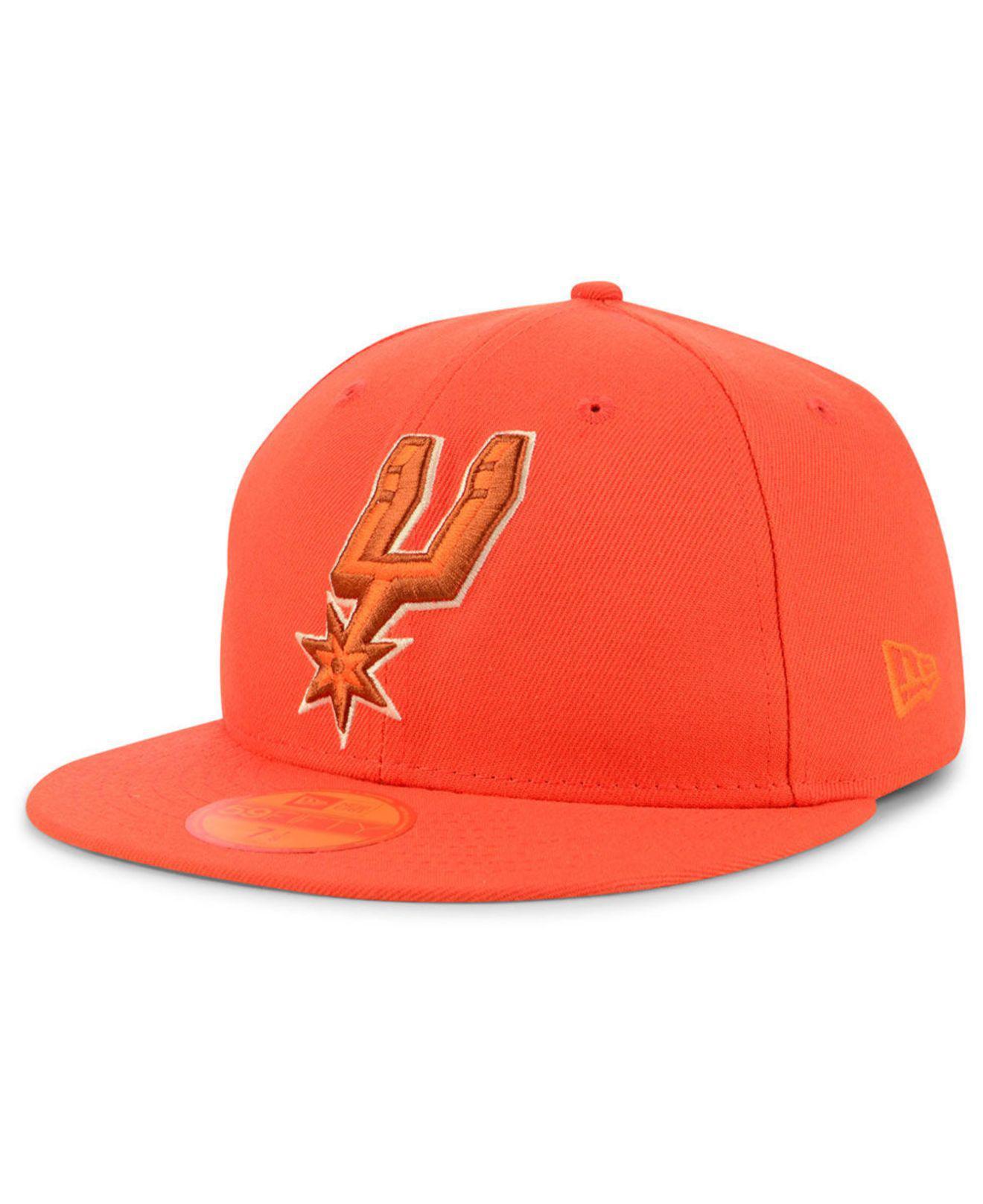 best loved df798 c7248 ... authentic ktz. mens orange san antonio spurs color prism pack 59fifty  fitted cap 271fa 0c7d3