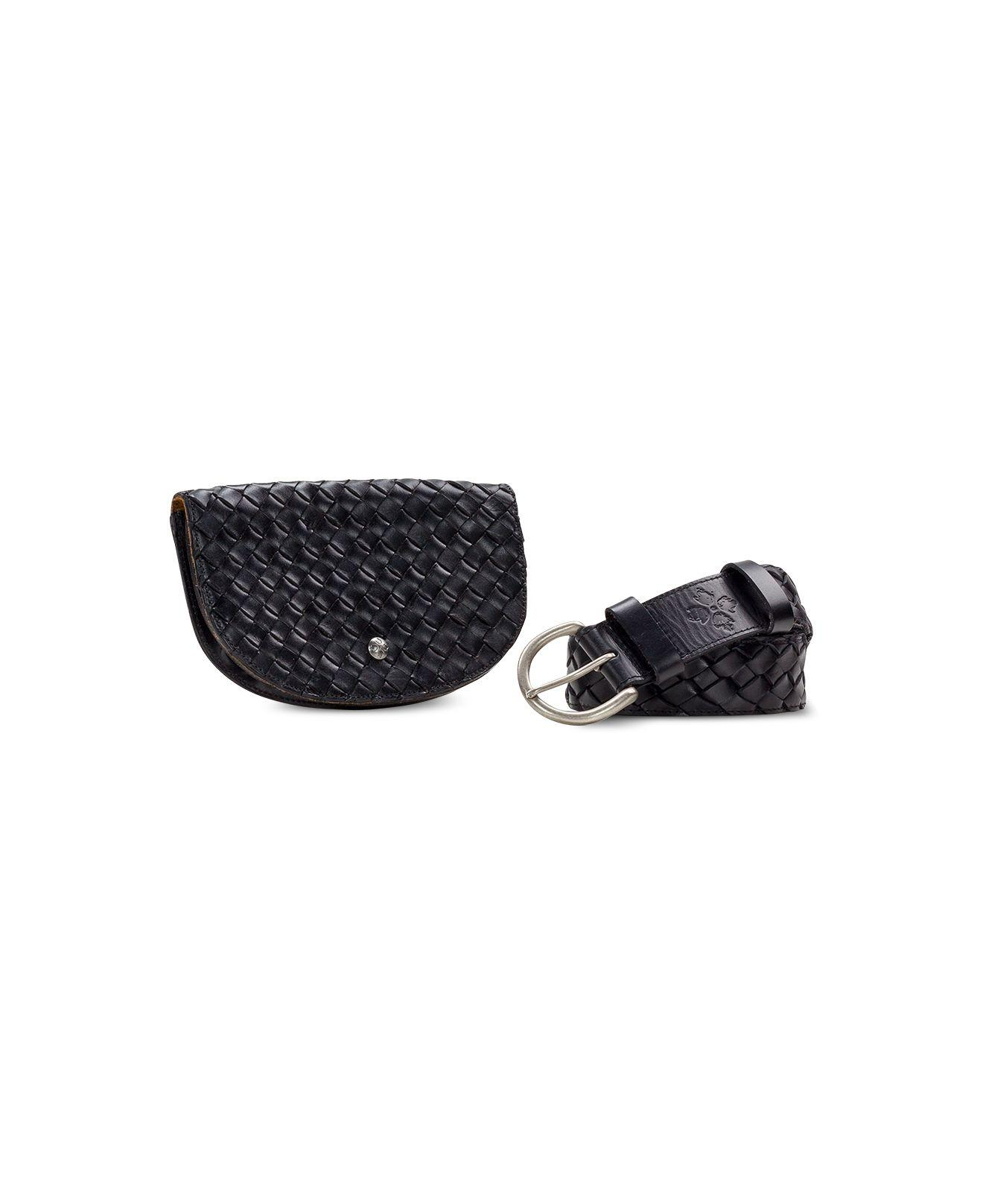 9af0f6bad Patricia Nash Woven Detachable Pouch Belt Bag in Black - Save 40% - Lyst