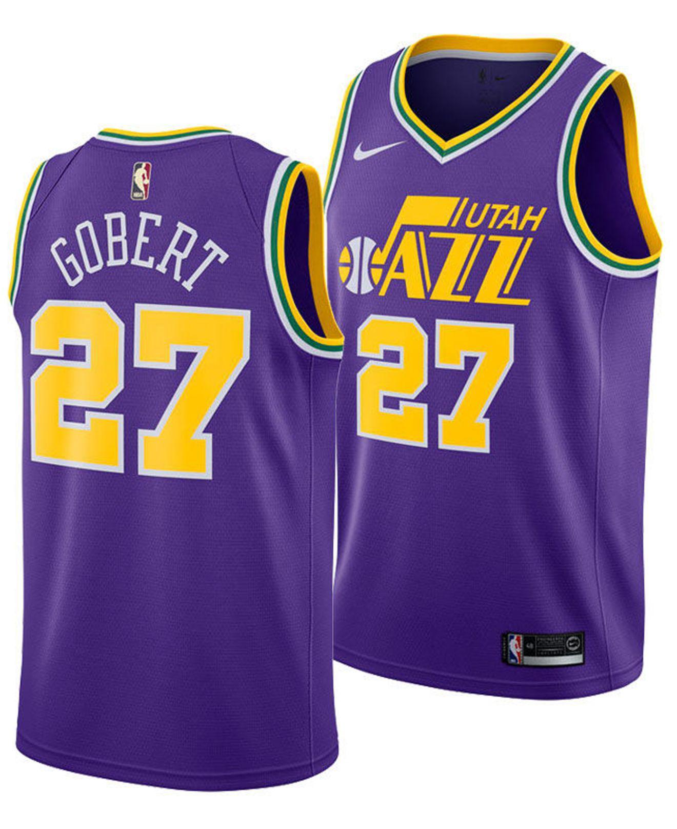 75d8d1c6f Lyst - Nike Rudy Gobert Utah Jazz Hardwood Classic Swingman Jersey ...