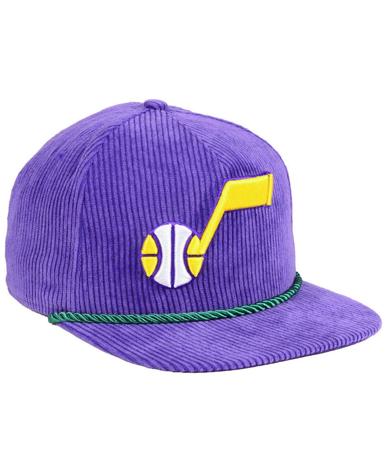 KTZ - Purple Utah Jazz Hardwood Classic Nights Cords 9fifty Snapback Cap  for Men - Lyst. View fullscreen c86213cbc