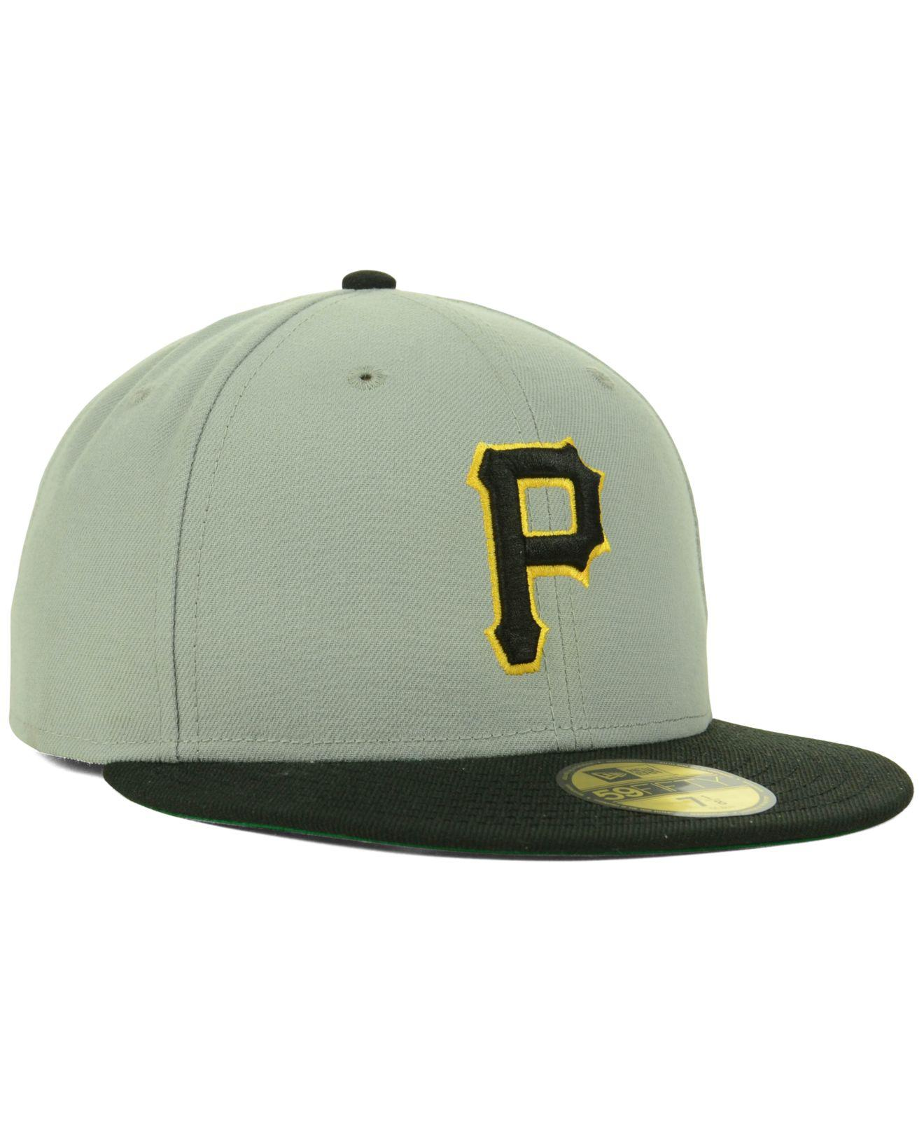 buy popular ad449 089ca ... hot lyst ktz pittsburgh pirates cooperstown 59fifty cap in gray for men  68166 81dad