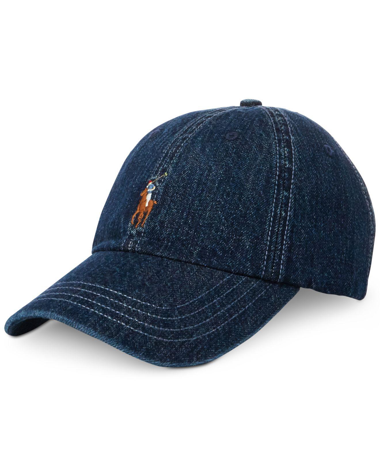 70e38f6df41 ... Lyst - Polo Ralph Lauren Denim Baseball Cap in Blue for Men 50% price  51786 ...